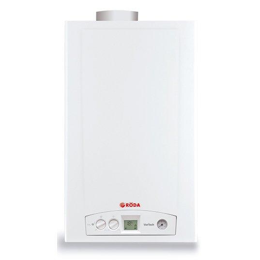 Котел Roda Vortech Duo CS1616 кВт<br>Для реализации отопления и приготовления ГВС идеальным приобретением станет газовый навесной котел от проверенной производственной компании Roda (Рода) Vortech Duo CS16, разработанный с учетом нужд современного потребителя. Данное оборудование с двумя теплообменниками гарантирует высокий коэффициент полезного действия. Устройство в качестве топлива использует природный газ.<br>Особенности настенных газовых  котлов отопления от бренда Roda серии  Vortech:<br><br>Раздельные теплообменники (версия Duo) или битермический теплообменник (версия One).<br>Открытая (ОC) или закрытая (CS) камеры сгорания.<br>Датчик протока поплавкового типа.<br>Плата управления с протоколом OpenTherm.<br>Климатическое регулирование.<br>Электронный розжиг и контроль ионизации.<br>Плавная непрерывная модуляция мощности.<br>Полноформатный ЖК дисплей.<br>Автодиагностика состояния и кодов неисправности.<br>Поворотные регуляторы на панели управления.<br>Манометр на фронтальной панели.<br>Защита от частого включения  Антифаст .<br>Защита от заклинивания циркуляционного насоса и привода клапана.<br>Защита от перегрева теплообменника.<br>Защита от замерзания  Антифриз .<br>Возможность перевода на сжиженный газ.<br>Доступны одноконтурные модели (версия R).<br>Класс защиты IP X5D.<br><br>Классические многофункциональные котлы Roda серии  Vortech характеризуются высоким качеством исполнения и присутствием интеллектуального управления. Такие устройства со стабильной производительностью применяются в любых условиях в течение всего срока службы, они не подвержены преждевременному износу и хорошо адаптированы под современные российские условия эксплуатации. <br><br>Страна: Германия<br>Производство: Германия<br>Тип котла: Энергозависимые<br>Режим работы: Отопление/ГВС<br>Камера сгорания: Закрытая<br>Горелка: Модулируемая<br>Max мощность, кВт: 14.6<br>Min мощность, кВт: 10.1<br>Max давление отопит контура , Атм: 3.0<br>Min давление отопит контура , Атм: 0.5<br>Расширительны