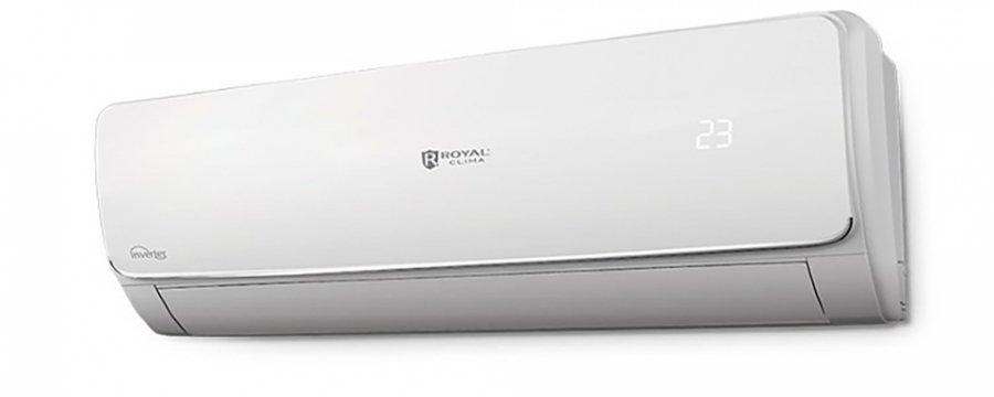 Настенный кондиционер Royal Clima55 м? - 5.5 кВт<br>Хотите создать в своем доме комфортный климат и чистый воздух? Хотите найти мощный и качественный кондиционер, который будет работать при минимальном потреблении энергии? Настенная инверторная сплит-система Royal Clima (Рояль Клима) RCI-V57HN идеально подойдет вам. Мощный четырехскоростной вентилятор, низкий уровень шума при работе, удобное управление, высококачественные фильтры очистки, стильный дизайн. В этих системах используются только современные компоненты, позволяющие увеличить срок службы прибора.<br><br>Особенности и преимущества настенных сплит-систем серии VELA Chrome Inverter  от компании Royal Clima:<br><br>Высокая эффективность работы.<br>Инновационные японские технологии.<br>Инверторное управление.<br>Четыре скорости вентилятора.<br>Высокая сезонная энергоэффективность класса А.<br>Современный скрытый дисплей.<br>Экономичный расход электроэнергии.<br>Автоматический режим работы.<br>Необычный дизайн с хромированной вставкой.<br>Четыре режима работы: охлаждение, обогрев, осушения, вентиляция.<br>Дополнительная система фильтрации: активный угольный фильтр Active Carbone, фильтр с активным серебром Argenteo.<br>Низкий уровень шума.<br>Удобное управление дистанционным пультом.<br>Надежность и долговечность.<br>Комфорт и безопасность эксплуатации.<br><br>Благодаря инверторной технологии кондиционеры серии VELA Chrome Inverter являются экономичным, но мощным помощником по созданию климата в помещении. Четырехскоростной вентилятор работает при минимальном уровне шума.  Ночной режим, функции I feel, I Favor и I clean. Высокоэффективные фильтры очистки воздуха превратят городской воздух в природную свежеть. Серии VELA Chrome Inverter отличается ультрасовременным дизайном с хромированной вставкой.  VELA Chrome Inverter  - экономичный, стильный и мощный помощник в вашем доме.<br> <br><br>Уровень шума, дБа: 54<br>Страна бренда: Италия<br>Горизонтальная регулировка потока: Нет<br>Габариты ВхШхГ, см: 80,2x53,5x29,8
