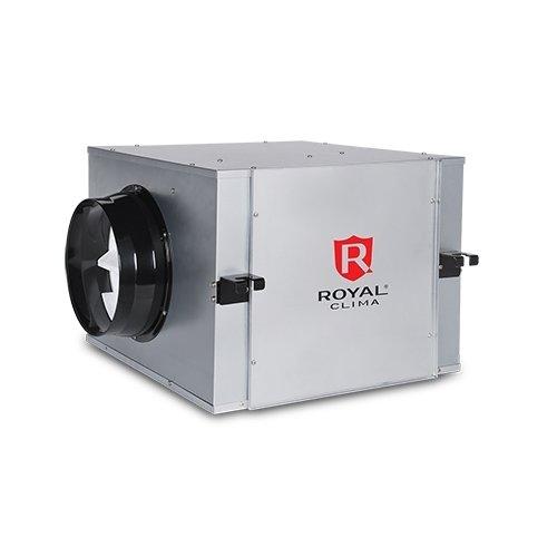 Дополнительный канальный вентилятор Royal Clima RCS-VS 500500 м?/ч<br>RoyalClima (Роял Клима) RCS-VS 500   это модель вентилятора, которая используется в качестве дополнительного оборудования для приточно-вытяжных систем RCS. Устройство оборудовано достаточно мощным малошумным двигателем, работающим в двух режимах скорости. Для управление моделью используется пульт от приточно-вытяжной системы.<br>Особенности и преимущества вентиляторов подпора Royal Clima серии Soffio:<br><br>Подключение вентиляторов осуществляется с платы управления установки и управляется с пульта установки<br>Вентиляторы снабжены малошумными двухскоростными двигателями<br>Установки подключаются к однофазной сети переменного тока, 220 В/50 Гц.<br><br>Современное вентиляционное оборудование из серии Soffio от компании Royal Clima    это сложный агрегат со встроенной системой автоматики, который позволяет не только обеспечивать свежим воздухом обслуживаемые помещения, но и существенно экономить энергоресуры, затрачиваемые на подогрев приточного воздуха. Установки с рекуператором   это энергоэффективное оборудование с интеллектуальной системой управления. Такое оборудование может работать с наружным воздухом низкой температуры (до -200С), не используя калорифер, подогрев приточного воздуха осуществляется за счет переноса тепла от удаляемого из системы воздуха (вытяжного). Большим преимуществом использования рекуператоров (а в частности мембранного пластинчатого рекуператора, который используется в серии RCS) также является то, что помимо тепла переноситься влага, то есть  в обслуживаемое помещение поступает теплый воздух с нормальной влажностью (а не пересушенный в калорифере). Для пользователя управлять таким оборудование не составит большого труда   установка полностью автоматизирована, предусмотрена работа по таймеру.<br><br>Страна: Италия<br>Производитель: Китай<br>Поток воздуха мsup3; ч: 470<br>Max мощность, кВт: 0,065<br>Max рабочий ток, А: 0,31<br>Тип нагревателя: Нет<br>Рекуперация: Нет<br>Т