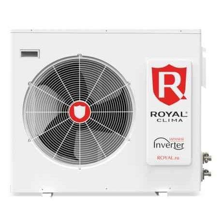 Внешний блок мульти сплит-системы Royal Clima RFM2-18HN/OUT2 комнаты<br>Передовой наружный блок мульти сплит-системы Royal Clima (Роял Клима) RFM2-18HN/OUT предназначен для стабильно производительной эксплуатации при различных погодных условиях. Агрегат оборудован технологичным компрессором нового поколения, который характеризуется высокой производительностью вкупе с экономичностью. Комплектация блока предполагает подключение двух внутренних модулей.<br>Особенности и преимущества мульти сплит-систем Royal Clima<br><br>Японские технологии.<br>Энергоэффективность класса  А .<br>Комфорт и энергосбережение благодаря инверторной технологии.<br>Четыре режима работы.<br>Покрытие теплообменников Blue Fin .<br>Длительный срок службы.<br>Низкий шумовой уровень.<br><br>Ключевыми особенностями серии мульти сплит-систем Royal Clima являются стабильная и производительная работа на протяжении долгих лет. Семейство представляет собой широкую линейку современных технологичных кондиционеров, отличающихся свободной комплектацией наружных блоков: вы можете подключить к ним блоки внутреннего типа любого вида   настенные и кассетные, потолочные и канальные. Совокупность передовых разработок в области HVAC, отличного качества комплектующих, а также высокого уровня комфорта делают серию интересной даже для самых привередливых пользователей.<br><br>Страна: Италия<br>Охлаждение вн.блока,кВт: None<br>Производитель: Китай<br>Обогрев вн.блока, кВт: None<br>Площадь вн.блока, м?: None<br>Компрессор: Инвертор<br>Площадь, м?: 50<br>Режим работы: холод/тепло<br>Охлаждение,кВт: 5,0<br>Обогрев, кВт: 5,5<br>Потребление при охлаждении, кВт: 1,6<br>Потребление при обогреве, кВт: 1,6<br>Охлаждающая способность, тыс btu: 18<br>Диапазон t на охлаждение, С: +18...+43<br>Диапазон t на обогрев, С: 7...+24<br>Хладагент: R410A<br>Max 931; длина трасс, м : 40<br>Макс. длина трассы 1го блока, м: 15<br>Max колво комнат: 2<br>Max расход воздуха, м3/час: 2900<br>диаметр газовой трубы, дюйм: 3/8<br>диаметр жидкостной 