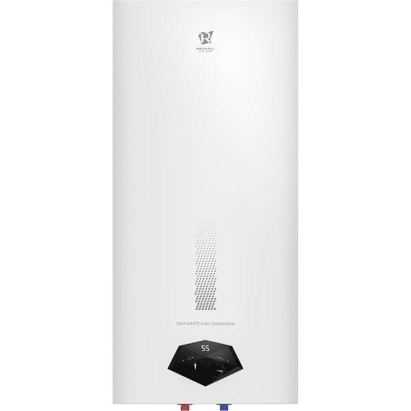 Электрический накопительный водонагреватель Royal Clima RWH-DIC50-FS50 литров<br>Royal Clima (Роял Клима) RWH-DIC50-FS   это новая вместительная модель современного накопительного водонагревателя, резервуар которого вмещает до пятидесяти литров воды. Представленный прибор может похвастать наличием интегрированной системы  Security Project , которая гарантирует полную безопасность эксплуатации агрегата и значительно повышает уровень его надежности.<br>Особенности и преимущества накопительных водонагревателей Royal Clima серии DIAMANTE Collezione:<br><br>Два независимых Медных ТЭНа<br>Завальцованные боковые крышки <br>FE   эмалированный корпус; FS   корпус из нержавеющей стали<br>Эксклюзивная трехмерная панель Black Diamand - авторский дизайн ведущих дизайн-бюро Европы!<br>Надежная защита от коррозии и ржавчины<br>Сверхдолговечная нержавеющая сталь Goliath 1.2 толщиной 1.2 мм<br>Покрытие внутреннего бака и всех внутренних компонентов<br>Высокая скорость нагрева воды<br>Высококачественный медный нагревательный элемент ROYAL Clima Cu+ повышенного срока службы.<br>Быстрый нагрев от 5 до 75 градусов<br>Надежный  пенополуиретановый термоизолирующий материал между баком и корпусом.<br>Система безопасной эксплуатации Security Project<br>Защита от избыточного давления воды и протекания бака.<br>Высокий класс влагозащиты IPX4<br>Класс электрозащиты I , УЗО<br>Технология бесшовного изготовления корпуса прибора основанная на автоматизированном процессе сборки.<br>Повышенная надежность и эргономичный дизайн прибор<br>Три режима мощности в зависимости от предпочтений пользователя- мягкий, средний и интенсивный<br>LED дисплея для контроля за уровнем нагрева воды. Белое свечение<br>Жемчужное эмалевое покрытие бака, устойчивое к царапинам и ржавчине<br>Матовая поверхность не нуждается в дополнительной чистке<br>Супер плоская конструкция бака<br>Легкая и простая установка в любом помещении<br>Набор для  установки входит в комплект<br><br>Новая серия накопительных водонагревателей DIAM