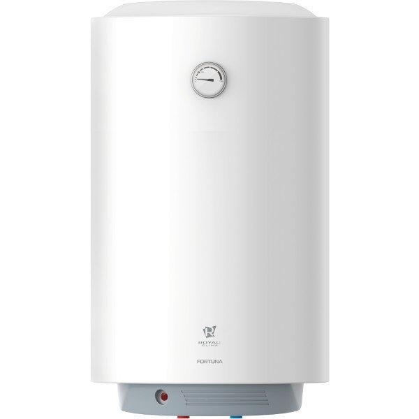 Водонагреватель Royal Clima RWH-F100-RE100 литров<br>На передней панели корпуса водонагревателя Royal Clima (Роял Клима) RWH-F100-RE расположился термометр, благодаря которому пользователь сможет контролировать температурный режим внутри накопительной емкости. Конструкция устройства стальная, а внутренний резервуар покрыт защитной эмалью. Греющий элемент изготовлен из меди, устойчивой к воздействию воды, характеризуется повышенной мощностью и быстрым достижением рабочей температуры.<br>Особенности и преимущества накопительных водонагревателей Royal Clima серии FORTUNA:<br><br>Антибактериальное покрытие внутреннего бака. DUO BIO GLASS Technology.<br>Технология равномерного покрытия внутреннего бака увеличенным слоем антибактериальной стеклокерамической BIO-эмали.<br>Термометр на фронтальной части прибора позволяет визуально контролировать температуру воды внутри бака.<br>Высокая скорость нагрева воды.<br>Высококачественный медный нагревательный элемент ROYAL Clima Cu+ повышенного срока службы.<br>Защита от теплопотерь.<br>Надежный пенополуиретановый термоизолирующий материал между внутренним баком и корпусом.<br>Система безопасной эксплуатации Security Project.<br>Защита от избыточного давления воды и протечек (предохранительный клапан, Италия), перегрева.<br>Высокий класс влагозащиты IPX4.<br>Заботливый режим iLike.<br>Эмалевое покрытие бака, устойчивое к царапинам и ржавчине.<br>Компактность и легкая установка в любом помещении. Все необходимые аксессуары входят в комплект.<br><br>Одно из главных преимуществ водонагревателей из семейства FORTUNA &amp;ndash; это их эргономичность. Специалисты торговой марки Royal Clima отлично поработали над этими агрегатами, сделав их компактными но вместительными. Бойлеры легко разместятся на стене кухни или санузла, занимая минимум полезного пространства. Подключение к системе водоснабжения и точке водоразборная отличается простотой. А для работы агрегатам необходима только бытовая электрическая сеть.<br><br>Страна: Италия<br>Про