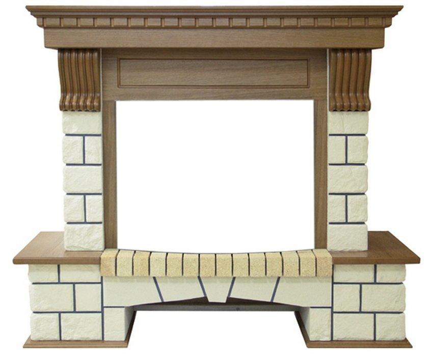 Портал из камня для камина Royal Flame Pierre Luxe под очаг Dioramic 25FX (Дуб)Порталы из камня<br>Каминные порталы Royal Flame (Роял Флейм) Pierre Luxe под очаг Dioramic 25FX (Дуб) украсят интерьер вашей квартиры, загородного дома или ресторана. Классический стиль в современном исполнении, материалы, полностью имитирующие натуральные породы дерева и камня. Массивный вид каминной полки уравновешивается легкими резными консолями. Внизу имеются небольшие декоративные полочки, которые придают общую законченность и лаконичность стилю.<br>Особенности и преимущества каменных порталов для электрических каминов от компании Royal Flame:<br><br>Высококачественное исполнение из прочных и долговечных материалов   камня и искусственного мрамора.<br>Великолепная отделка деревянными панелями.<br>Широчайший ассортимент цветовых решений<br>Множество стилевых решений   от изысканной классики до простодушного кантри.<br>Красивейшая художественная резка ручной работы.<br>Различные варианты исполнения: как фронтальные, так и угловые.<br>Комплектация с электрическими очагами этого же производителя.<br>Высокая износоустойчивость, а также устойчивость перед механическими повреждениями, истиранием, воздействием температур.<br>Простая и быстрая установка, которая не требует профессиональных навыков и инструментов.<br><br>Каменные порталы Royal Flame   это декоративные панели, которые предназначены для оформления электрических очагов. В тандеме с топкой такие порталы смогут создать иллюзию настоящего камина, который на первый взгляд не отличишь от дровяного  коллеги . Семейство порталов из камня представлено множеством самых разнообразных моделей, среди которых каждый покупатель обязательно найдет для себя что-то по вкусу. Эти ансамбли смогут прекрасно дополнить интерьер любого дома, став одним из центральных элементов композиции и подчеркнув безупречный вкус владельца. Стоит отметить, что компания Royal Flame   это весьма известный производитель каминного оборудования и аксессуаров. Свою ист