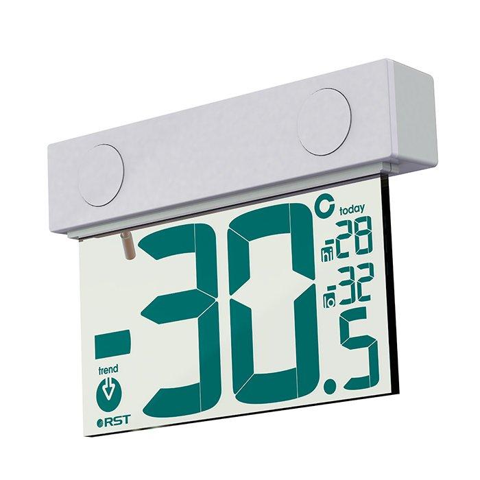 Термометр Rst 01377Оконные термометры<br>Оконный термометр на солнечной батарее RST 01377.Фиксирование и контролирование температурных изменений осуществляется с помощью встроенных электронных датчиков, которые имеют высокую чувствительность к колебаниям атмосферного давления в период определенного промежутка времени. Гарантирована высокая точность, что позволяет выгодно выделять модель среди своих аналогов. Специально разработанная конструкция позволит быстро и надежно закрепить прибор на стекле. Модный и современный внешний вид, который дополнен элегантным прозрачным дисплеем станет изюминкой в интерьере. Экологически безопасный вид питания. Предусмотрена солнечная батарея, которая способствует экономии потребления электроэнергии.<br>Особенности рассматриваемой модели:<br><br>Компактность<br>Привлекательный дизайн корпуса<br>Современный прозрачный дисплей<br>Установка с внешней стороны стекла<br>Запоминание температурных данных<br><br><br>Производитель: Китай<br>Назначение: Оконный термометр<br>Страна: Швеция<br>Материал: Пластик<br>Диапазон  t, С: 30+70<br>Питание, В: Батарейки<br>Тип батарейки: Солнечная<br>Колво батареек: 1<br>Габариты, мм: 70х98х2х22<br>Вес, кг: 1<br>Гарантия: 1 год