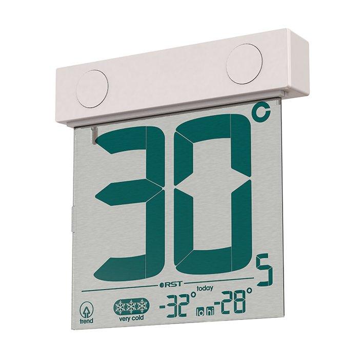 Термометр Rst 01388Оконные термометры<br>Оконный термометр на солнечной батарее RST 01388.&amp;nbsp;<br>Данная модель является таким же важным приобретением, как и другие вспомогательные бытовые приборы. Каждый человек, прежде чем выйти на улицу обязательно посмотрит на градусник. Чтоб облегчить Вам данную процедуру, сконструирован специальный корпус, который имеет универсальное крепление для внешней стороны окна. А прозрачный дисплей имеет не только оригинальный внешний вид, но и контрастные крупные цифры, которые будут видны на любом расстоянии и независимо от погодных условий. Критические показатели за текущие сутки автоматически сохраняются в памяти, и в любой момент их можно просмотреть.&amp;nbsp;<br>&amp;nbsp;<br>Особенности рассматриваемой модели:<br><br>Компактность<br>Привлекательный дизайн корпуса<br>Современный прозрачный дисплей<br>Установка с внешней стороны стекла<br>Запоминание температурных данных<br><br><br>Производитель: Китай<br>Назначение: Оконный термометр<br>Страна: Швеция<br>Материал: Пластик<br>Диапазон  t, С: 30+70<br>Питание, В: Батарейки<br>Тип батарейки: Солнечная<br>Колво батареек: 1<br>Габариты, мм: 70х98х2х22<br>Вес, кг: 1<br>Гарантия: 1 год