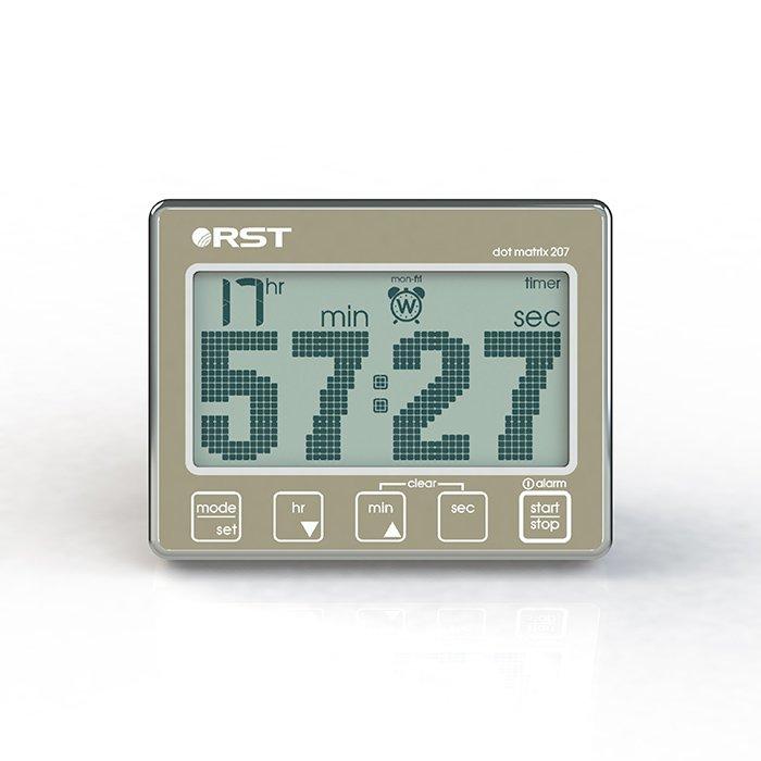 Часы без проекции Rst 04207Часы без проекции<br> Данная модель удобна и проста в использовании: несколько вариантов размещения, а именно   настольный,  для чего предусмотрена устойчивая выдвижная опора; подвесной,  для чего есть возможность прикрепить устройство на веревку и вертикальный   крепление к железной стенке (например, холодильника) при помощи вмонтированного в прибор магнита. Помимо функции секундомера, Rst 04207 может также работать,  как таймер, календарь и часы с функцией будильника. <br>Особенности рассматриваемой модели электронного таймера от торговой марки Rst:<br><br>Устройство объединяет в себе пять функций.<br>Реализована возможность прямого и обратного отсчета.<br>Простота в эксплуатации.<br>Отсчет времени производится с разрешением до 1/100 секунды.<br>Память на последнюю установленную команду.<br>Громкий звуковой сигнал.<br>Удобочитаемый точечно-матричный дисплей с анимацией цифр.<br>Сенсорное управление.<br>Система экономии питания SES.<br>Удобная подставка для настольной установки.<br>Клипса для крепления на веревку.<br>Магнит для крепления на металлической поверхности.<br><br> <br><br>Страна: Швеция<br>Питание, В: Батарейки<br>Тип батарейки: ААА<br>Колво батареек: 2<br>Адаптер к 220В: Нет<br>С будильником: Да<br>Радиодатчик: None<br>С метеостанцией: None<br>В помещении t, С: Нет<br>За окном t, С: Нет<br>Влажность в помещении: Нет<br>Влажность за окном: Нет<br>Давление: Нет<br>Прогноз погоды: Нет<br>Габариты, мм: 90х70х20<br>Вес, кг: 1<br>Гарантия: 1 год<br>Ширина мм: 70<br>Высота мм: 90<br>Глубина мм: 20