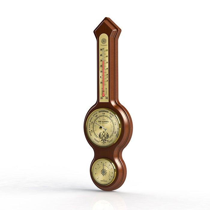 Барометр Rst 05338Барометр+Гигро+Термо<br>Оригинальная настенная метеостанция RST 05338&amp;nbsp;выполнена в неподражаемом старинном стиле с эргономичными циферблатами. Модель исполнена с ртутным термометром.&amp;nbsp;<br><br>Страна: Швеция<br>Диапазон p, мм. рт. ст.: 710790<br>Диапазон t, C: 10+50<br>Диапазон rH, : 0100<br>Цвет: Махагон<br>Питание, В: Нет<br>Тип батарейки: None<br>Тип установки: Настенный<br>Стиль исполнения: Классический<br>Термометр: Есть<br>Гигрометр: Да<br>Часы: Нет<br>Габариты, мм: 105х70х140х430х25<br>Вес, кг: 1<br>Гарантия: 1 год