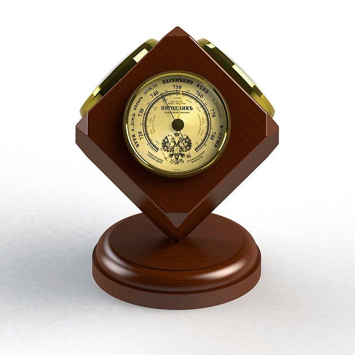 Комнатный барометр Rst 05345Барометр+Гигро+Термо<br>Оригинальная комнатная метеостанция RST 05345 выполнена в неподражаемом стиле с эргономичными циферблатами   прекрасный выбор для дома. Как и во всех барометрах и механических метеостанциях фирмы RST, основные детали, с помощью которых производится измерение атмосферного давления, имеют ручную сборку и проходят тщательный отбор на предприятии-изготовителе, что обеспечивает высокую степень надежности и превосходное качество продукции. Все перечисленные достоинства прибора позволяют с хорошей точностью измерять атмосферное давление, температуру  и следить за тенденцией и динамикой изменения погоды.<br><br>Страна: Швеция<br>Диапазон p, мм. рт. ст.: 710790<br>Диапазон t, C: 40+50<br>Диапазон rH, : 0100<br>Цвет: Махагон<br>Питание, В: Нет<br>Тип батарейки: None<br>Колво батареек: None<br>Тип установки: Настольный<br>Стиль исполнения: Классический<br>Термометр: Есть<br>Гигрометр: Да<br>Часы: Нет<br>Габариты, мм: 70х130х165<br>Вес, кг: 1<br>Гарантия: 1 год<br>Ширина мм: 130<br>Высота мм: 70<br>Глубина мм: 165