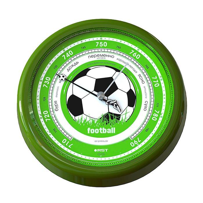 Барометр Rst 05735Барометры<br>RST 05735 является классическим барометром изготовлен в футбольном стиле. Так что поклонникам футбола он отлично подойдет. У него очень красивый внешний вид с энергоемким циферблатом. Прибор очень качественен за счет того, что барометр имеет ручную сборку, которая тщательно проверяется. С этим барометром Вы всегда будете в курсе предстоящей погоды перед футбольным матчем. Именно поэтому этот прибор будет просто незаменим.<br>В комплекте поставляются:<br><br>Погодник<br>Инструкция на русском языке<br>Гарантийный талон<br><br><br><br>Страна: Швеция<br>Диапазон p, мм. рт. ст.: 710790<br>Цвет: Орех<br>Питание, В: Нет<br>Тип батарейки: None<br>Тип установки: Настенный<br>Стиль исполнения: Классический<br>Термометр: Нет<br>Гигрометр: Нет<br>Часы: Нет<br>Габариты, мм: 137х160х35<br>Вес, кг: 1<br>Гарантия: 1 год<br>Ширина мм: 160<br>Высота мм: 137<br>Глубина мм: 35