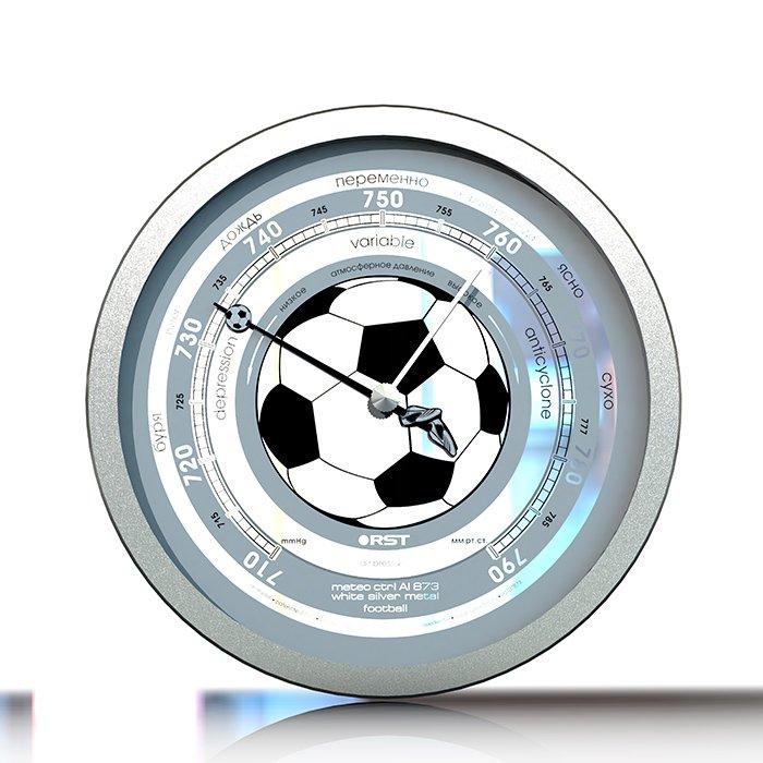 Барометр Rst 07873Барометры<br>Атмосферный барометр RST 07873 &amp;laquo;Футбольный мяч&amp;raquo; &amp;nbsp;является новой настенной погодной станцией элитного класса серии Meteo Ctrl Stainless steel. &amp;nbsp;В основе данной модели -&amp;nbsp; собранный вручную высокоточный механизм барометра-анероида серии 3.7, прошедший проверку на каждом этапе сборки и тщательно откалиброванный специалистами фабрики. На циферблате предусмотрены русские буквы.&amp;nbsp;&amp;nbsp;<br><br>Страна: Швеция<br>Диапазон p, мм. рт. ст.: 710790<br>Цвет: Серая сталь<br>Питание, В: Нет<br>Тип батарейки: None<br>Тип установки: Настенный<br>Стиль исполнения: Hitech<br>Термометр: Нет<br>Гигрометр: Нет<br>Часы: Нет<br>Габариты, мм: 152х32<br>Вес, кг: 1<br>Гарантия: 1 год