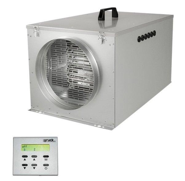Приточная вентиляционная установка Ruck FFH 125500 м?/ч<br>Приточная вентиляционная установка Ruck FFH 125 из компактной серии FFH. Диаметр воздуховода 124 мм. Обеспечивает подачу 330 метров кубических очищенного воздуха в час. Потребляет ток 14 А от сети 230 В, мощность нагревателя 3,0 кВт. Имеется три ступени переключения скорости вентилятора, в пульте управления имеется встроенный таймер. Предусмотрены защитные решетки для вентилятора и нагревателя. Вес установки 20,4 кг.<br>Особенности и преимущества рассматриваемой модели приточной  установки от торговой марки Ruck:<br><br>Корпус из оцинкованной стали.<br>В качестве теплоизоляции используется 30 мм слой минеральной ваты.<br>Фильтр очистки класса G4.<br>Съемная крышка из оцинкованной стали.<br>Выдвижной вентиляторный агрегат.<br>Рабочее колесо свободного хода с загнутыми назад лопатками.<br>Двигатель с внешним ротором оснащен встроенным термореле и рассчитан на непрерывную работу.<br>Интегрированный регулятор.<br>Внешний пульт управления.<br>Максимальная температура приточного воздуха: 40  C.<br>Степень защиты: при потолочном монтаже крышкой вниз с правильно присоединенными воздуховодом и кабелем   IP43.<br><br>В комплект поставки входят:<br><br>1 компактный вентиляционно-приточный агрегат FFH<br>1 пульт дистанционного управления с кабелем управления<br>1 инструкция по монтажу и эксплуатации<br><br>Вентустановки Ruck серии FFH   это полностью готовые к осуществлению монтажа и последующей эксплуатации приборы, способные создать и поддержать в помещении благоприятный человеку микроклимат. Модели разработаны для осуществления проветривания помещений при помощи приточного воздуха, который берется с улицы. Все агрегаты имеют эргономичную конструкцию с потолочным вариантом размещения. Приборы оснащены системой фильтрации, что позволит подавать в помещение только чистый и свежий воздух.<br><br>Страна: Германия<br>Производитель: Германия<br>Поток воздуха мsup3; ч: 330<br>Потр. мощность вентилятора, кВт: None<br>Max мощн