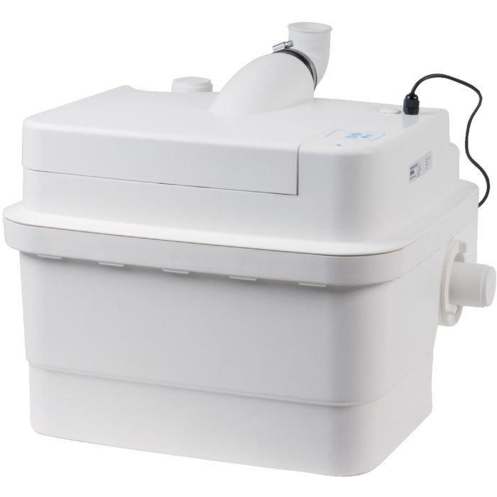 Канализационная установка SFA SANICUBIC 1 IP67Канализационные установки<br>Санитарная насосная станция SFA SANICUBIC 1 IP67 может быть подключена к нескольким точкам вывода канализации   унитаз, умывальник и ванна. Максимальная температура сточных вод может достигать 70  С   материал из которого изготовлены внутренние детали насоса имеют высокую прочность, термически выносливые и износоустойчивы. Благодаря двигателю, имеющему высокую мощность, эта насосная станция за одну минуту может прокачать более ста литров сточных вод.<br>Основные характеристики насосной станции:<br><br>Широкая сфера применения<br>Может быть подключен к нескольким точкам забора стока<br>Большая производительность<br>Предварительное измельчение загрязнений<br>Автоматическое слежение за уровнем воды<br>Бесшумный двигатель<br>Отсутствие вибрации<br>Легкий монтаж<br>Компактный размер<br>Современный дизайн<br><br>С помощью санитарного насоса SFA можно организовать эффективную канализационную систему в квартире или доме, где отвод сточных вод затруднен по каким-либо причинам. Эта насосная станция обеспечивает принудительную канализацию, поднимая бытовые сточные воды на уровень до 11 метров по вертикали и отводя их на 100 метров по горизонтали. Канализационные трубы, куда насос выводит сток, могут иметь изгибы, подниматься и опускаться на любой уровень. Такое довольно большое расстояние позволяет вывести канализационную трубу из дома прямиком в сточную яму.<br>В санитарной насосной станции SFA установлена фильтрационная система из активированного угля, благодаря которой удалось полностью избавиться от запаха во время работы принудительной канализации. А применение шумопоглощающих материалов позволяет сделать работу этого оборудования практически беззвучным   уровень звука при работе насоса составляет всего 30 дБ(А).<br>Компактный дизайн позволяет установить этот насос в незаметном месте, к примеру, в специальной нише, за ванной или за унитазом. <br><br>Страна: Франция<br>Производитель: Франция<br>Назн