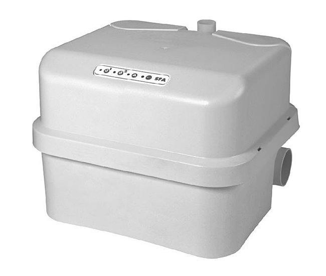 Канализационная установка SFA SANICUBIC 2 PROКанализационные установки<br>Бытовая насосная станция SFA SANICUBIC 2 PRO отлично справится с обеспечением бесперебойной принудительной канализации в Вашем доме. Благодаря оснащению этого прибора двумя двигателями по 1,5 кВт каждый, он способен всего за одну минуту прокачать340 литровканализационной воды. Привлекательный дизайн делает его уместным в любой ванной комнате или санузле, а его компактный размер позволяет его разместить в любом удобном для Вас месте.<br>Основные характеристики насосной станции:<br><br>Широкая сфера применения<br>Может быть подключен к нескольким точкам забора стока<br>Большая производительность<br>Предварительное измельчение загрязнений<br>Автоматическое слежение за уровнем воды<br>Бесшумный двигатель<br>Отсутствие вибрации<br>Легкий монтаж<br>Компактный размер<br>Современный дизайн<br><br>С помощью санитарного насоса SFA можно организовать эффективную канализационную систему в квартире или доме, где отвод сточных вод затруднен по каким-либо причинам. Эта насосная станция обеспечивает принудительную канализацию, поднимая бытовые сточные воды на уровень до 11 метров по вертикали и отводя их на 110 метров по горизонтали. Канализационные трубы, куда насос выводит сток, могут иметь изгибы, подниматься и опускаться на любой уровень. Такое довольно большое расстояние позволяет вывести канализационную трубу из дома прямиком в сточную яму.<br>В санитарной насосной станции SFA установлена фильтрационная система из активированного угля, благодаря которой удалось полностью избавиться от запаха во время работы принудительной канализации. А применение шумопоглощающих материалов позволяет сделать работу этого оборудования практически беззвучным &amp;ndash; уровень звука при работе насоса составляет всего 30 дБ(А).<br>Компактный дизайн позволяет установить этот насос в незаметном месте, к примеру, в специальной нише, за ванной или за унитазом.&amp;nbsp;<br><br>Страна: Франция<br>Производитель: Франция<br>Назн