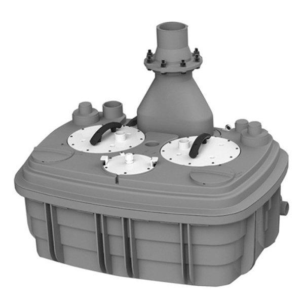 Канализационная установка SFA SANICUBIC 2 XLКанализационные установки<br>С установкой санитарной насосной станции SFA SANICUBIC 2 XL проблема плохого отвода канализации в Вашем доме будет решена на многие годы. Качественные комплектующие, которые использовались при сборке этого насоса, делают этот продукт надежным, долговечным и высокоэффективным. Большой объем откачки сточных вод производителям удалось достичь благодаря оснащению насоса двумя мощными (по 2,0 кВт) двигателями. Эффективная шумоизоляция, которая была установлена в этом насосе, делает его работу невероятно тихой.<br>Основные характеристики насосной станции:<br><br>Широкая сфера применения<br>Может быть подключен к нескольким точкам забора стока<br>Большая производительность<br>Предварительное измельчение загрязнений<br>Автоматическое слежение за уровнем воды<br>Бесшумный двигатель<br>Отсутствие вибрации<br>Легкий монтаж<br>Компактный размер<br>Современный дизайн<br><br>С помощью санитарного насоса SFA можно организовать эффективную канализационную систему в квартире или доме, где отвод сточных вод затруднен по каким-либо причинам. Эта насосная станция обеспечивает принудительную канализацию, поднимая бытовые сточные воды на уровень до 10 метров по вертикали и отводя их на 100 метров по горизонтали. Канализационные трубы, куда насос выводит сток, могут иметь изгибы, подниматься и опускаться на любой уровень. Такое довольно большое расстояние позволяет вывести канализационную трубу из дома прямиком в сточную яму.<br>В санитарной насосной станции SFA установлена фильтрационная система из активированного угля, благодаря которой удалось полностью избавиться от запаха во время работы принудительной канализации. А применение шумопоглощающих материалов позволяет сделать работу этого оборудования практически беззвучным   уровень звука при работе насоса составляет всего 30 дБ(А).<br>Компактный дизайн позволяет установить этот насос в незаметном месте, к примеру, в специальной нише, за ванной или за унитазом. <br