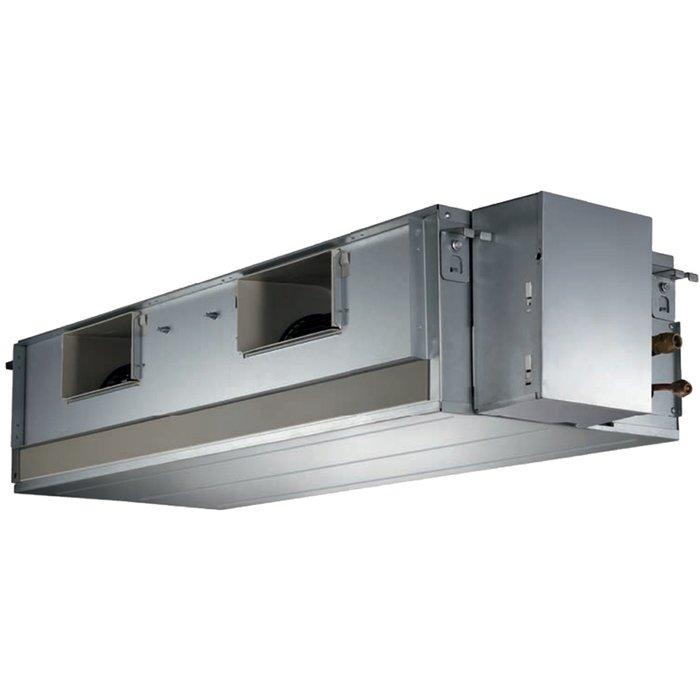Канальный кондиционер Sakata SIB-140DBY/SOB-140YA11 кВт - 36 BTU<br>Модель Sakata (Саката) SIB-140DBY/SOB-140YA представляет собой передовой канальный кондиционер с увеличенным эксплуатационным сроком и широкой функциональной комплектацией, обеспечивающей простоту использования такой модели, а также ее высокий уровень безопасности. Кондиционер применяется с комфортным шумовым уровнем и не наносит вреда окружающей среде.<br>Особенности и преимущества кондиционеров Sakata представленной серии:<br><br>Функция  Рестарт  восстанавливает заданный пользователем режим кондиционера после проблем с подачей электроэнергии<br>Моющийся фильтр <br>Индикатор работы компрессора<br>Каталитический фильтр<br>Самодиагностика и автоматическая функция защиты<br>Авторазморозка<br><br>Sakata представляет серию полупромышленных кондиционеров SemiPRO, которая включает в себя модели различных типов, предназначенные как для скрытого, так и для открытого монтажа в помещениях административного, производственного и практически любого другого типа. Компания позаботилась о надежности оборудования   каждое представленное устройство было выполнено из прочных и безопасных материалов. <br><br>Страна: Япония<br>Охлаждение, кВт: 14.0<br>Обогрев, кВт: 15.24<br>Компрессор: Не инвертор<br>Площадь, м?: 140<br>Потребляемая мощность охлаждения, Квт: 4.22<br>Потребляемая мощность обогрева, Квт: 2.73<br>Воздухообмен, мsup3;/ч: 2809<br>Габариты внеш. блока ВШГ: 900x1167x340<br>Осушение, л/час: None<br>Габариты внут. блока, ВШГ: 380x1200x625<br>Уровень шума внеш/внутр.б., Дба: 63/46<br>Вес внеш. блока, Кг: 94<br>Вес внутр. блока, Кг: 46<br>Длина трассы, м: 50<br>Режимы работы: Холод / тепло<br>Режим приточной вентиляции: Нет<br>Сенсор движения: Нет<br>Фильтры тонкой очистки воздуха: Нет<br>Гарантия: 3 года
