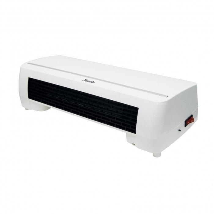 Керамический тепловентилятор Scoole SC FH MC 20 04Бытовые<br>Модель тепловентилятора Scoole SC FH MC 20 04 поможет быстро и качественно обогреть помещения с небольшой площадью. Прибор может быть монтирован в квартире или офисе. Качественная сборка гарантирует агрегату высокий КПД и бесшумную работу. Прибор защищен от перегрева, поэтому безопасен и надежен в общей эксплуатации. Тепловентилятор не требует сервисного обслуживания и подходит для частого использования.<br>Преимущества рассматриваемой модели тепловентилятора от Scoole:<br><br>Безопасный керамический нагревательный элемент<br>Технология Oxygen Safe- увеличенная площадь нагревательного элемента, нагрев происходит гораздо быстрее, причем без активного сжигания кислорода<br>Многофункциональный воздушный поток: холодный, теплый, горячий воздух<br>Пульт ДУ в комплекте<br>Таймер 8 часов (с шагом 1 час)<br>2 режима мощности на выбор: 1000 Вт и 2000 Вт<br>Гарантия высокого качества<br>Длительный срок эксплуатации<br><br>Бытовые тепловентиляторы Scoole предназначены для обогрева помещений с небольшой площадью. Приборы станут идеальным дополнительным источником отопления для квартиры или загородного дома. Агрегаты не требуют специального монтажа и защищены от перегрева, поэтому безопасны и надежны в эксплуатации. Качественный нагревательный элемент гарантирует оборудованию долгий срок службы.<br><br>Страна: Китай<br>Мощность, кВт: 2000<br>Площадь, м?: 20<br>Тип нагревательного элемента: Керамический<br>Тип регулятора: Механический<br>Защита от перегрева: None<br>Отключение при опрокидывании: Нет<br>Ионизатор: Нет<br>Дисплей: Нет<br>Пульт: Есть<br>Габариты, мм: 175x420x100<br>Вес, кг: 3<br>Гарантия: 1 год<br>Ширина мм: 420<br>Высота мм: 175<br>Глубина мм: 100
