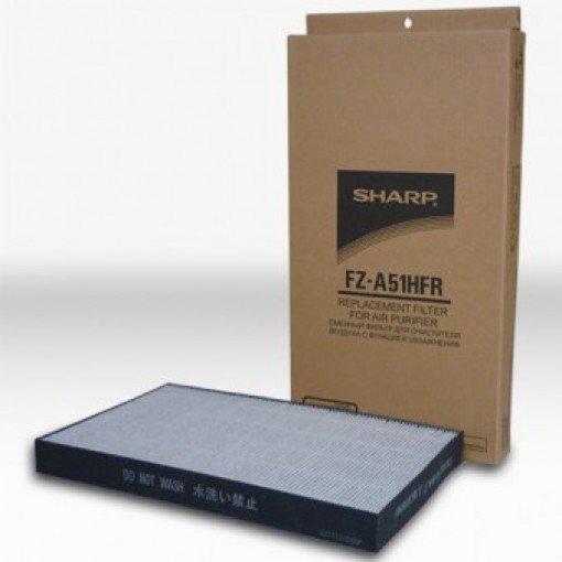 HEPA фильтр Sharp FZ-A51HFRФильтры и аксессуары<br>Sharp (Шарп) FZ-A51HFR   это сменный HEPA-фильтр, предназначенный для эффективной фильтрации воздуха и очистки его в помещении. Так как данный фильтр имеет тип  HEPA , он будет эксплуатироваться в тех местах, где качеству воздуха уделяется очень много внимания. Это, например, различные медицинские учреждения. По словам производителя, данный фильтр создан из довольно качественных материалов. Приблизительный срок службы должен составить десять лет. Данный фильтр будет совместим с KC-A51RW, KC-A51RB от той же компании производителя. <br><br>Страна: Япония<br>Площадь, кв.м.: None<br>Расход воздуха, куб.м/ч: None<br>Мощность, кВт: None<br>Шум, дБА: None<br>Вес, кг: 1<br>Габариты, мм: None<br>Гарантия: 1 год