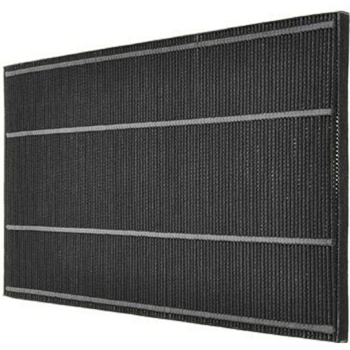 Угольный фильтр Sharp FZ-C150DFEФильтры и аксессуары<br>Дезодорирующий фильтр черного цвета Sharp FZ-C150DFE отлично справится с удалением из комнатного воздуха различных аллергенов, пыли и дыма. Особая технология изготовления позволяет промывать фильтр водой для избавления от накопившихся примесей. Предназначается для использования в очистителе воздуха.<br>Параметры:<br><br>Тип: дезодорирующий фильтр<br>Назначение: для очистителя<br>Материал: активированный уголь<br>Фильтрация: аллергены, пыль, пыльца растений, табачный дым<br>Совместимые модели: Sharp KC-860E, Sharp KC-C150E<br><br><br>Страна: Китай<br>Площадь, кв.м.: None<br>Расход воздуха, куб.м/ч: None<br>Мощность, кВт: None<br>Шум, дБА: None<br>Вес, кг: 1<br>Габариты, мм: 520x260x30<br>Гарантия: 1 год<br>Ширина мм: 260<br>Высота мм: 520<br>Глубина мм: 30