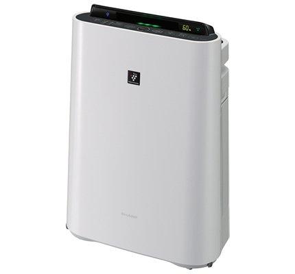 Очиститель воздуха Sharp KCD41RW (белый)Очистка + Увлажнение<br>Климатический комплекс Sharp (Шарп) KCD41RW в стильном белом корпусе отлично подойдет для помещений, площадью до двадцати шести квадратных метров. Агрегат увлажняет воздух со скоростью до 440 мл/ч, а максимальный объем очищаемого воздуха составляет 216 м3/ч. Несколько интегрированных фильтров очистят воздух не только от пыли, но также от различных аллергенов, неприятных запахов и болезнетворных микроорганизмов.<br>Особенности и преимущества очистителей-увлажнителей воздуха Sharp серии KC-D:<br><br>Климатический комплекс: очистка, увлажнение, ионизация воздуха.<br>Уникальная технология очистки воздуха и удаления бактерий и вирусов Plasmacluster.<br>Высокоэффективный HEPA-filter задерживает 99,97% всех частиц пыли.<br>Энергосберегающее инверторное управление<br>Сенсор пыли, комбинированный с датчиками температуры и влажности.<br>Цветовая индикация уровня загрязнения (5 ступеней).<br>Индикация влажности с точностью +/-1 %.<br>Прогрессивная технология распределения воздушных потоков.<br>Интегрированные колесики для легкого перемещения по квартире.<br>Режимы работы: очистка воздуха; очистка и увлажнение; ионный дождь.<br>Три скорости работы вентилятора (Максимальный/Средний/Низкий).<br>Срок службы фильтров HEPA, Дезодорирующий моющийся фильтр из активированного угля: до 10 лет.<br>Срок службы увлажняющего фильтра: 10 лет.<br>Сенсор: пыль, температура, влажность.<br>Вкл/выкл подсветки дисплея.<br>Индикатор режима ионизации Plasmacluster.<br>Индикатор уровня воды.<br><br> <br>Торговая марка Sharp разработала линейку климатических комплексов, которые выполняют комплексную обработку воздуха: очищают, увлажняют, ионизируют. Эти агрегаты помогут вам создать максимально здоровые и комфортные климатические условия в различного типа помещениях. Особенно актуальны очистители-увлажнители воздуха будут в комнатах людей, страдающих аллергиями и заболеваниями верхних дыхательных путей. Климатические комплексы Sharp помогу