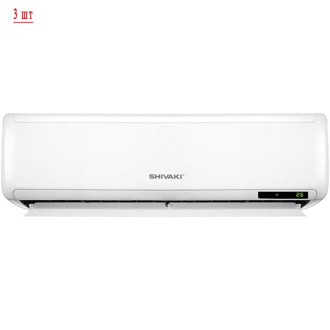 Мульти сплит система Shivaki SRH-PM246DC/SSH-PM096DC*3шт3 комнаты<br>Shivaki (Шиваки) SRH-PM246DC/SSH-PM096DC*3шт представляет собой комплект мультизональной системы кондиционирования воздуха. Кондиционер может работать в четырёх режимах, он оснащён множеством функций, а также имеет совершенную систему фильтрации 4 в 1, которая очищает воздух от пыли, микробов, вирусов, а также удаляет неприятные запахи и ароматизирует воздух в помещении. Возможно подключение трёх внутренних блоков одновременно.<br>Основные преимущества рассматриваемой модели мульти сплит системы от торговой марки Shivaki:<br><br>Наружный блок с инверторным управлением   технология  DC инвертор .<br>Режимы  тепло-холод ,  осушение ,  быстрое охлаждение .<br>Возможность независимой регулировки параметров каждого блока в отдельности.<br>Информативный LED дисплей на внутреннем блоке.<br>Автоматический перезапуск с сохранением заданных параметров при сбое в сети электричества.<br>Таймер, спящий режим.<br>Мощная система фильтрации воздуха  4 в 1 .<br>Сервисные режимы: самоочистка, автоматическая разморозка.<br>Класс энергоэффективности   А.<br>Широкий диапазон мощности.<br>Моющаяся лицевая панель внутреннего блока.<br>Бесшумная работа внутреннего блока системы.<br>Пульт дистанционного управления для каждого внутреннего блока.<br>Тихая работа наружного блока системы.<br>Гарантия непревзойденного качества.<br><br>Для оборудования сразу нескольких помещений  качественной системой кондиционирования помещений, уже давно были разработаны такие устройства, как мульти сплит-системы. Предлагаем вашему вниманию готовые к установке системы от компании Shivaki с двумя, тремя или четырьмя внутренними блоками настенного типа. Все приборы оснащены всеми функциями, которые присущи обычному кондиционеру   это режимы охлаждения, обогрева, осушение и вентиляция помещений, автоматический перезапуск с сохранением параметров и функция таймера.<br><br>Страна: Япония<br>Охлаждение вн.блока,кВт: 2,6 x3<br>Производитель: Китай<br