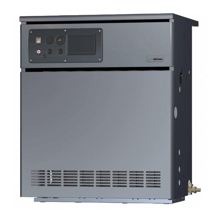 Напольный газовый котел Sime80 кВт<br>Коэффициент полезного действия газового котла Sime (Сайм) RMG 80 MK.II соответствует очень высокому значению   90,0 %. Устройство подобного класса позволяет осуществить отопление помещений различного назначения   бытовых, складских, торговых или производственных, в зависимости от нужд современного потребителя. Теплообменник выполнен из высококачественного чугуна.<br>Особенности Напольных газовых котлов оборудования от компании Sime серии RMG MK.II:<br><br>Экономное потребление газа<br>Газовый напольный котёл с открытой камерой сгорания<br>Теплообменник из эвтектического чугуна с высокими теплоаккумулирующими свойствами<br>Инжекционная двухступенчатая горелка  Multigas  из нержавеющей стали<br>Электрический розжиг с системой контроля горения на базе ионизационного электрода<br>Система газораспределения Honeywell обеспечивает безопасную работу котла<br>Индикация сбоев в работе горелки<br>Корпус имеет плотную теплоизоляцию<br>Компактные габаритные размеры<br>Незатруднительный установочный процесс<br>Увеличенный эксплуатационный период<br>Уменьшена потребность в частых сервисных осмотрах<br>Превосходная совместимость с разными агрессивными условиями работы<br>Функционирование в низкотемпературном режиме<br><br>Высокомощные отопительные газовые напольные котлы Sime RMG MK.II были изготовлены из качественного долговечного чугуна и оборудованы стальными двухступенчатыми горелками, что обеспечило несравненную надежность всех моделей рассматриваемой серии при эксплуатации в любых условиях и их высокую производительность вкупе с минимальным расходом топлива.<br><br>Страна: Италия<br>Производство: Италия<br>Тип котла: Энергозависимые<br>Режим работы: Отопление<br>Камера сгорания: Открытая<br>Горелка: Атмосферная<br>Тип розжига: Электронный<br>Материал теплобмненника: Чугун<br>Количество секций: 9<br>Max мощность, кВт: 78.7<br>Min полезная мощность, кВт: 56.0<br>Max давление отопит контура , Атм: 4.0<br>Min давление отопит контура , Атм: No