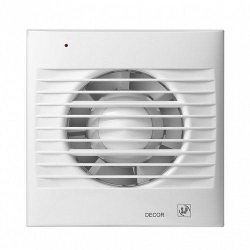 Вентилятор Soler &amp; Palau Decor 100CRВытяжки для ванной<br>Soler   Palau Decor 100CR &amp;mdash; Вытяжной вентилятор с низким потреблением электроэнергии и пониженным уровнем шума. Лицевые панели с большим выбором расцветок. Таймер на выключение до 30 минут. Есть индикатор работы. Потребляемая мощность вентилятора всего 8 Вт. Шумность до 27 дБ. Расположение потолочное или настенное. II класс влагозащиты. Присутствует защита электродвигателя от перегрева.<br>Особенности и преимущества вентиляторов Soler   Palau представленной серии:<br><br>Предназначены для решения проблем вентиляции в ванных комнатах, санузлах и других небольших помещениях.<br>Могут устанавливаться на стене или потолке.<br>Обладают компактной конструкцией, привлекательным внешним видом и низким уровнем шума.<br>Двигатель класс II, IP44, имеет защиту от попадания влаги и перегрева.<br>В комплекте к вентилятору поставляются крепежи и уплотнительная полоска.<br>При изготовлении учитывались международные стандарты ISO9001.<br><br>Модификации:<br><br>S&amp;nbsp;- Стандартная модель данной серии.<br>C&amp;nbsp;- Модель оснащена клапаном обратного хода.<br>Z&amp;nbsp;- Модель оснащена шарикоподшипниками со смазкой достаточной до конца срока службы (до 30.000 часов). Специально рекомендуется для установки в жилых домах, торговых и промышленных помещениях, обладающих повышенной опасностью коррозии.<br>R&amp;nbsp;- Модель оснащена регулируемым таймером, который после выключения индикатора поддерживает работу вентилятора на протяжении нескольких минут.<br>H&amp;nbsp;- Модель оснащена датчиком влажности.<br>D&amp;nbsp;- Модель оснащена пассивным приемником инфракрасного излучения с радиусом приема 4 м.<br><br>Накладные вентиляторы Soler   Palau серии Decor &amp;mdash; это широкий модельный ряд приборов для бытовых и коммерческих помещений. Семейство представлено моделями с различной комплектацией: стандартными, оснащенными таймером, датчиком влажности, ИК-приемником. Серия включает вытяжные накладные вентиля