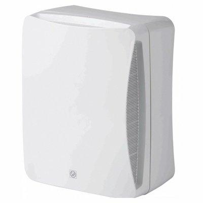 Вентилятор Soler &amp; Palau EBB 100N HTВытяжки для ванной<br>Центробежный бытовой вентилятор модели Soler   Palau EBB 100HT имеет стильный дизайн и высокую функциональность. Он выполнен в модном белом цвете, имеет два клапана, металлический фильтр. Модель с легкостью крепится на любую стену или потолок, обладает небольшим весом. Устройство также снабжено таймером и датчиком влажности, имеет долгий срок службы.&amp;nbsp; &amp;nbsp;&amp;nbsp;&amp;nbsp;&amp;nbsp;&amp;nbsp;&amp;nbsp;&amp;nbsp; &amp;nbsp;&amp;nbsp;<br>Особенности и преимущества вентиляторов Soler   Palau представленной серии:<br><br>Бытовые центробежные вентиляторы предназначены для использования в системах вентиляции с большой протяженностью воздуховодов.<br>Вентиляторы комплектуются рабочими колесами с загнутыми вперед лопатками и одно- фазными электродвигателями (230В-50Гц), класс изоляции B.<br>Для удобства пользователя вентиляторы могут оснащаться таймером или гигростатом.<br>Рабочая температура от 0&amp;deg;С до +40&amp;deg;С.<br><br>Модификации:<br><br>S &amp;mdash; Стандартная модель.<br>T &amp;mdash; Модель с регулируемым таймером.<br>HT &amp;mdash; Модель с гигростатом и регулируемым таймером.<br>М &amp;mdash; Модель со шнуровым выключателем.<br><br>EB/EBB &amp;mdash; это еще одна линейка вытяжных вентиляторов от испанского бренда Soler   Palau. Если воздуховоды в системе вентилирования имеют большую длину, то данное семейство &amp;mdash; это идеальный выбор. Конструкция приборов тщательно продумана и отличается прекрасной эргономикой. Вентиляторы тихие, удобные в установке и уходе, надежные и долговечные.<br><br>Страна: Испания<br>Производитель: Испания<br>Мощность, Вт: 15/35<br>Поток воздуха мsup3; ч: 75/130<br>Частота вращения, об/мин: 1050/1600<br>Колво скоростей: 2<br>Управление: Автоматическое<br>Уровень шума, дБа: 34/46<br>Таймер: Есть<br>Гигрометр: Да<br>Регулировка высоты: Нет<br>Влагозащищенный корпус: IP44<br> диаметр установки, мм: 100/80<br>Питание, Вт: 230<br>Габариты ВхШхГ, мм: 