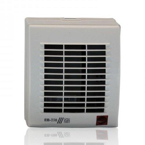 Вентилятор Soler &amp; Palau EB 250 SВытяжки для ванной<br>Накладной вентилятор Soler   Palau EB 250S специально создан для вентиляционных систем большой протяженности. Он имеет классический дизайн, корпус выполнен из прочного пластика и имеет влагозащитную функцию. Устройство обладает повышенной производительностью, оснащено автоматическими жалюзи. Модель выдерживает большую нагрузку и имеет долгий срок службы.<br>Особенности и преимущества вентиляторов Soler   Palau представленной серии:<br><br>Бытовые центробежные вентиляторы предназначены для использования в системах вентиляции с большой протяженностью воздуховодов.<br>Вентиляторы комплектуются рабочими колесами с загнутыми вперед лопатками и одно- фазными электродвигателями (230В-50Гц), класс изоляции B.<br>Для удобства пользователя вентиляторы могут оснащаться таймером или гигростатом.<br>Рабочая температура от 0 С до +40 С.<br><br>Модификации:<br><br>S   Стандартная модель.<br>T   Модель с регулируемым таймером.<br>HT   Модель с гигростатом и регулируемым таймером.<br>М   Модель со шнуровым выключателем.<br><br>EB/EBB   это еще одна линейка вытяжных вентиляторов от испанского бренда Soler   Palau. Если воздуховоды в системе вентилирования имеют большую длину, то данное семейство   это идеальный выбор. Конструкция приборов тщательно продумана и отличается прекрасной эргономикой. Вентиляторы тихие, удобные в установке и уходе, надежные и долговечные.<br><br>Страна: Испания<br>Производитель: Испания<br>Мощность, Вт: 60<br>Поток воздуха мsup3; ч: 225<br>Частота вращения, об/мин: 2200<br>Колво скоростей: 1<br>Управление: Механическое<br>Уровень шума, дБа: 52<br>Таймер: Нет<br>Гигрометр: Нет<br>Регулировка высоты: Нет<br>Влагозащищенный корпус: IPX4<br> диаметр установки, мм: 100<br>Питание, Вт: 230<br>Габариты ВхШхГ, мм: 235x204x173<br>Вес, кг: 3<br>Гарантия: 1 год<br>Ширина мм: 204<br>Высота мм: 235<br>Глубина мм: 173