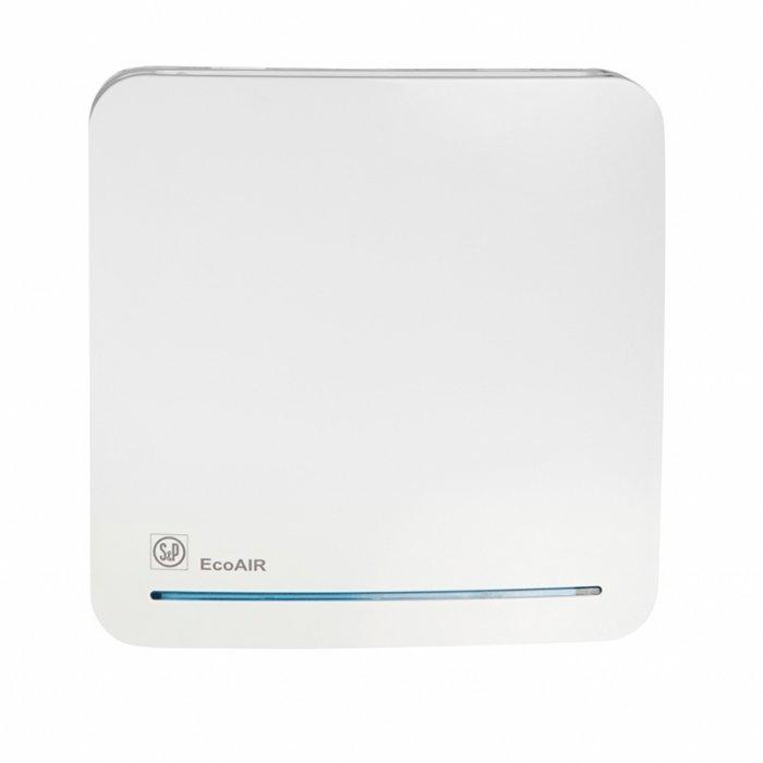 Вентилятор Soler &amp; Palau ECOAIR 100MLCВытяжки для ванной<br>Soler   Palau ECOAIR 100MLC   входит в серию энергосберегающих вентиляционных систем. Модель оборудована датчиком влажности и таймером, обеспечивающим работу вентилятора в течение 15 минут после отключения от сети. Принцип работы модели схож с моделями HLC, единственное отличие   вместо внешнего выключателя вентилятор оборудован шнуровым выключателем.<br>Особенности и преимущества вентиляторов Soler   Palau представленной серии:<br><br>Постоянная работа при сниженном расходе воздуха с возможностью переключения на максимальную производительность по сигналу внешнего или внутреннего выключателя.<br>Периодическая работа с возможностью регулирования скорости (с внутреннего потенциометра). Вентиляторы ECOAIR комплектуются электродвигателями постоянного тока (класс защиты IPX4, класс герметичности II), которые крепятся к корпусу при помощи специальных резиновых  сайлент-блоков , что обеспечивает очень низкий уровень шума. Использование подобных электродвигателей существенно снижает расходы на эксплуатацию вентилятора. Вентиляторы подключаются к однофазной сети питания с параметрами 230В-50Гц. Вентиляторы поставляются в комплекте с обратным клапаном, которые следует установить на вентиляторе, если предполагается его эксплуатация в периодическом режиме<br>Рабочая температура воздуха от 0 С до +40 С.<br><br>Модификации:<br><br>SLC   постоянная работа, периодическая работа.<br>TLC   регулируемый таймер, постоянная работа, периодическая работа.<br>HLC   гигростат и таймер, постоянная работа, периодическая работа.<br>MLC   гигростат и шнуровой выключатель, постоянная работа, периодическая работа.<br>DLC   датчик движения и таймер, постоянная работа, периодическая работа.<br>17VDC   специально для душевых и ванных комнат. Напряжение питания вентилятора составляет 17В. Для работы требуется понижающий трансформатор.<br><br>ECOAIR   это высокая производительность, отличная энергоэффективность и минимум шума, облаченные 
