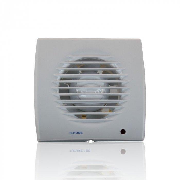Вентилятор Soler &amp; Palau Future-150Вытяжки для ванной<br>Вытяжной вентилятор Soler   Palau Future-150 отлично подходит для бытовых вентиляционных систем небольших помещений. Его корпус выполнен из надежного пластика с влагозащитным эффектом, панель имеет световой индикатор, переднюю съемную часть. Устройство устанавливается в вентиляционное отверстие стены или в натяжной потолок, имеет долгий срок службы.    <br>Семейство Future представлено бытовыми вентиляторами для вытяжки воздуха, разработанными торговой маркой Soler   Palau   известным испанским производителем. Эти небольшие устройства могут качественно обслуживать санузлы и кухни, обеспечивая прекрасную вентиляцию. Серия весьма разнообразна и представлена несколькими модификациями, отличающимися функциональными возможностями.<br>Особенности и преимущества вентиляторов Soler   Palau представленной серии:<br><br>Предназначен для установки в ванных комнатах, санузлах, жилых, офисных и общественных помещениях.<br>Вместе с вентилятором поставляются крепежные элементы и уплотнительная полоска.<br>Вентилятор монтируется на стене, в отверстии вентиляционной шахты, в подвесном потолке.<br>Влагозащита IP44.<br>Класс электробезопасности II.<br><br>Модификации:<br><br>PIR. Световой индикатор, регулируемый таймер (2-20 мин), датчик движения.<br>T. Регулируемый таймер (2-20 мин).<br>TH. Регулируемый таймер (2.-20 мин), датчик контроля влажности.<br><br><br>Страна: Испания<br>Производитель: Испания<br>Мощность, Вт: 35<br>Поток воздуха мsup3; ч: 280<br>Частота вращения, об/мин: None<br>Колво скоростей: 1<br>Управление: Механическое<br>Уровень шума, дБа: 47<br>Таймер: Нет<br>Гигрометр: Нет<br>Регулировка высоты: Нет<br>Влагозащищенный корпус: IP44<br> диаметр установки, мм: 150<br>Питание, Вт: 230<br>Габариты ВхШхГ, мм: 200x200x129<br>Вес, кг: 2<br>Гарантия: 1 год<br>Ширина мм: 200<br>Высота мм: 200<br>Глубина мм: 129