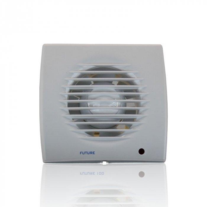 Вентилятор Soler &amp; Palau Future-150TВытяжки для ванной<br>Бытовой вентилятор Soler   Palau Future-150T сочетает в себе высокую функциональность и стильный дизайн. Его корпус выполнен из пластика с влагозащитным эффектом, он имеет мощный двигатель. Устройство выполнено в стильном белом цвете, имеет невысокий уровень шума винта. Модель оснащена функцией задержки отключения, имеет долгий срок службы. <br>Семейство Future представлено бытовыми вентиляторами для вытяжки воздуха, разработанными торговой маркой Soler   Palau   известным испанским производителем. Эти небольшие устройства могут качественно обслуживать санузлы и кухни, обеспечивая прекрасную вентиляцию. Серия весьма разнообразна и представлена несколькими модификациями, отличающимися функциональными возможностями.<br>Особенности и преимущества вентиляторов Soler   Palau представленной серии:<br><br>Предназначен для установки в ванных комнатах, санузлах, жилых, офисных и общественных помещениях.<br>Вместе с вентилятором поставляются крепежные элементы и уплотнительная полоска.<br>Вентилятор монтируется на стене, в отверстии вентиляционной шахты, в подвесном потолке.<br>Влагозащита IP44.<br>Класс электробезопасности II.<br><br>Модификации:<br><br>PIR. Световой индикатор, регулируемый таймер (2-20 мин), датчик движения.<br>T. Регулируемый таймер (2-20 мин).<br>TH. Регулируемый таймер (2.-20 мин), датчик контроля влажности.<br><br><br>Страна: Испания<br>Производитель: Испания<br>Мощность, Вт: 35<br>Поток воздуха мsup3; ч: 280<br>Частота вращения, об/мин: None<br>Колво скоростей: 1<br>Управление: Автоматическое<br>Уровень шума, дБа: 47<br>Таймер: Есть<br>Гигрометр: Нет<br>Регулировка высоты: Нет<br>Влагозащищенный корпус: IP44<br> диаметр установки, мм: 150<br>Питание, Вт: 230<br>Габариты ВхШхГ, мм: 200x200x129<br>Вес, кг: 2<br>Гарантия: 1 год<br>Ширина мм: 200<br>Высота мм: 200<br>Глубина мм: 129