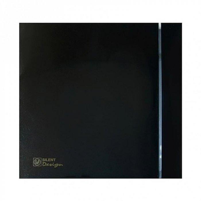 Вентилятор Soler &amp; Palau SILENT-100 CRZ BLACK DESIGN-4CВытяжки для ванной<br>Вытяжной вентилятор осевого типа Soler   Palau SILENT-100 CRZ BLACK DESIGN-4C исполнен в стильном черном корпусе, который прекрасно спишется в дизайнерские помещения. Модель монтируется в стену или на потолке, имеет компактные размеры и характеризуется минимумом шума. Вентилятор оснащен регулируемым таймером, который позволяет откладывать время отключения.<br>Особенности и преимущества вентиляторов Soler   Palau представленной серии:<br><br>Разработаны специально для решения проблем вентиляции в ванных комнатах, санузлах и других небольших помещениях.<br>Электродвигатель крепится к корпусу при помощи резиновых &amp;laquo;сайлент-блоков&amp;raquo;, которые предотвращают передачу вибраций и шума от двигателя к корпусу вентилятора. Также, снижению шума способствует особая аэродинамическая форма передней решетки вентилятора.<br>Вентиляторы комплектуются шариковыми подшипниками &amp;ndash; это снижает шум, увеличивает срок службы и позволяет устанавливать вентилятор в любом положении. Срок службы вентиляторов SILENT составляет более 30000 часов.<br>Модельный ряд вентиляторов SILENT состоит из трех типоразмеров: SILENT-100, SILENT-200 и SILENT-300.<br><br>Модификации:<br><br>C &amp;mdash; Модель оснащена обратным клапаном.<br>Z &amp;mdash; Модель с шариковыми подшипниками, не требующими обслуживания (срок службы до 30000 часов).<br>R &amp;mdash; Модель оснащена регулируемым таймером, который позволяет вентиля- тору работать заданное время, после выключения.<br>H &amp;mdash; Модель оснащена гигростатом (датчиком влажности).<br>D &amp;mdash; Модель оснащена датчиком движения (радиус действия около 4 м).<br><br>Осевые вентиляторы из серии SILENT от торговой марки Soler   Palau &amp;mdash; это тихие и компактные помощники для ванной комнаты и любого другого помещения, где необходимо организовать вытяжку воздуха. Модели эргономичны и отличатся привлекательным внешним обликом, что делает их отличны