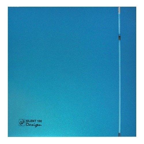 Вентилятор Soler &amp; Palau SILENT-100 CZ BLUE DESIGN-4CВытяжки для ванной<br>Soler   Palau SILENT-100 CZ BLUE DESIGN-4C разработан для обслуживания помещений с повышенным уровнем влажности, чья площадь не превышает 8м2. Тонкий корпус Slimline голубого цвета станет прекрасным украшением любой ванной и туалетной комнаты. Модель оборудована системой защиты от пыли и влаги, благодаря чему вентилятор не требует дополнительного обслуживания.<br>Особенности и преимущества вентиляторов Soler   Palau представленной серии:<br><br>Разработаны специально для решения проблем вентиляции в ванных комнатах, санузлах и других небольших помещениях.<br>Электродвигатель крепится к корпусу при помощи резиновых &amp;laquo;сайлент-блоков&amp;raquo;, которые предотвращают передачу вибраций и шума от двигателя к корпусу вентилятора. Также, снижению шума способствует особая аэродинамическая форма передней решетки вентилятора.<br>Вентиляторы комплектуются шариковыми подшипниками &amp;ndash; это снижает шум, увеличивает срок службы и позволяет устанавливать вентилятор в любом положении. Срок службы вентиляторов SILENT составляет более 30000 часов.<br>Модельный ряд вентиляторов SILENT состоит из трех типоразмеров: SILENT-100, SILENT-200 и SILENT-300.<br><br>Модификации:<br><br>C &amp;mdash; Модель оснащена обратным клапаном.<br>Z &amp;mdash; Модель с шариковыми подшипниками, не требующими обслуживания (срок службы до 30000 часов).<br>R &amp;mdash; Модель оснащена регулируемым таймером, который позволяет вентиля- тору работать заданное время, после выключения.<br>H &amp;mdash; Модель оснащена гигростатом (датчиком влажности).<br>D &amp;mdash; Модель оснащена датчиком движения (радиус действия около 4 м).<br><br>Осевые вентиляторы из серии SILENT от торговой марки Soler   Palau &amp;mdash; это тихие и компактные помощники для ванной комнаты и любого другого помещения, где необходимо организовать вытяжку воздуха. Модели эргономичны и отличатся привлекательным внешним обликом, что делает их отлич