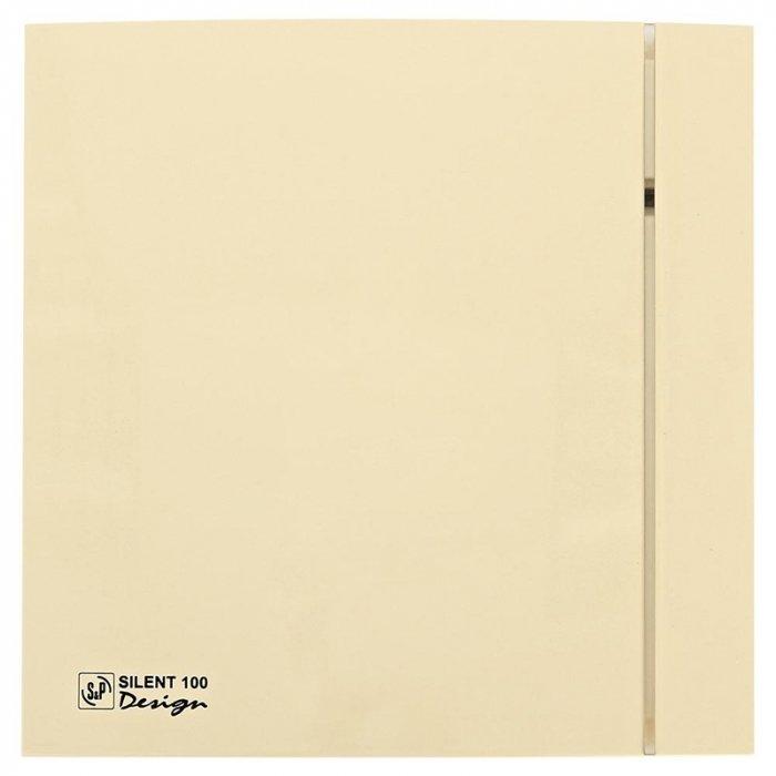 Вытяжка для ванной Soler &amp; PalauВытяжки для ванной<br>Вентиляционная система Soler   Palau SILENT-100 CZ IVORY DESIGN-4C разработана для помещений, в которых особое внимание уделяется деталям интерьера. Систему рекомендуется устанавливать в помещениях с повышенным уровнем влажности, чья площадь не превышает 8м2. Корпус вентилятора изготовлен из тонкого прочного пластика Slimline цвета слоновой кости, благодаря чему подходит для любого интерьера. <br>Особенности и преимущества вентиляторов Soler   Palau представленной серии:<br><br>Разработаны специально для решения проблем вентиляции в ванных комнатах, санузлах и других небольших помещениях.<br>Электродвигатель крепится к корпусу при помощи резиновых  сайлент-блоков , которые предотвращают передачу вибраций и шума от двигателя к корпусу вентилятора. Также, снижению шума способствует особая аэродинамическая форма передней решетки вентилятора.<br>Вентиляторы комплектуются шариковыми подшипниками   это снижает шум, увеличивает срок службы и позволяет устанавливать вентилятор в любом положении. Срок службы вентиляторов SILENT составляет более 30000 часов.<br>Модельный ряд вентиляторов SILENT состоит из трех типоразмеров: SILENT-100, SILENT-200 и SILENT-300.<br><br>Модификации:<br><br>C   Модель оснащена обратным клапаном.<br>Z   Модель с шариковыми подшипниками, не требующими обслуживания (срок службы до 30000 часов).<br>R   Модель оснащена регулируемым таймером, который позволяет вентиля- тору работать заданное время, после выключения.<br>H   Модель оснащена гигростатом (датчиком влажности).<br>D   Модель оснащена датчиком движения (радиус действия около 4 м).<br><br>Осевые вентиляторы из серии SILENT от торговой марки Soler   Palau   это тихие и компактные помощники для ванной комнаты и любого другого помещения, где необходимо организовать вытяжку воздуха. Модели эргономичны и отличатся привлекательным внешним обликом, что делает их отличным выбором для объектом, где предъявляются повышенные требования к оформител