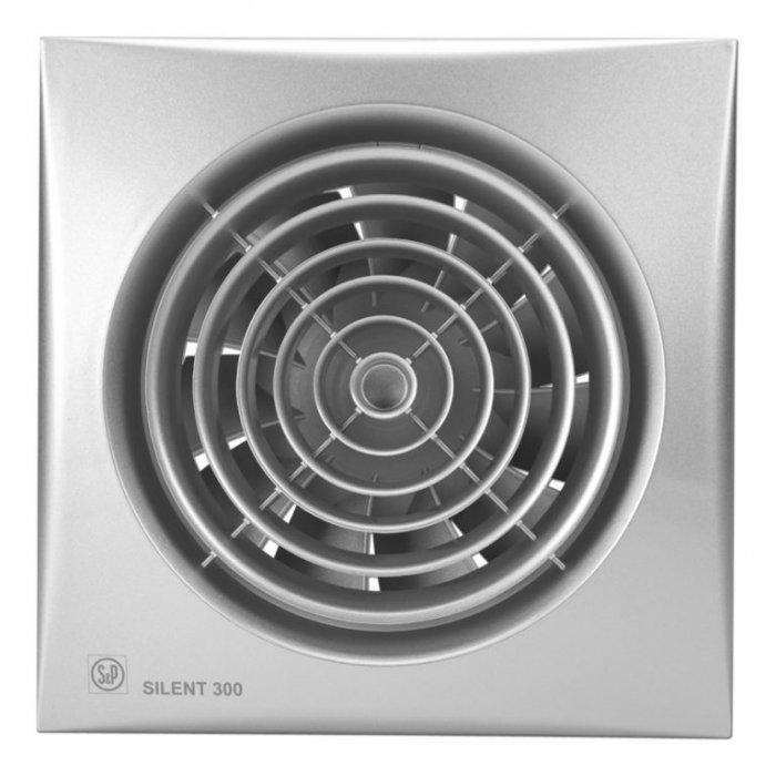 Вентилятор Soler &amp; Palau SILENT-300 CHZВытяжки для ванной<br>Выдувной вентилятор Soler   Palau SILENT-300 CHZ отличный вариант для вентиляции ванн, санузлов, небольших помещений. Он имеет почти бесшумный двигатель, корпус из литого пластика, обратный клапан против выдува воздуха назад. Модель надежно крепится к любой стене или потолку. Вентилятор оснащен функциями светового индикатора, таймера, гигростата.<br>Особенности и преимущества вентиляторов Soler   Palau представленной серии:<br><br>Разработаны специально для решения проблем вентиляции в ванных комнатах, санузлах и других небольших помещениях.<br>Электродвигатель крепится к корпусу при помощи резиновых &amp;laquo;сайлент-блоков&amp;raquo;, которые предотвращают передачу вибраций и шума от двигателя к корпусу вентилятора. Также, снижению шума способствует особая аэродинамическая форма передней решетки вентилятора.<br>Вентиляторы комплектуются шариковыми подшипниками &amp;ndash; это снижает шум, увеличивает срок службы и позволяет устанавливать вентилятор в любом положении. Срок службы вентиляторов SILENT составляет более 30000 часов.<br>Модельный ряд вентиляторов SILENT состоит из трех типоразмеров: SILENT-100, SILENT-200 и SILENT-300.<br><br>Модификации:<br><br>C &amp;mdash; Модель оснащена обратным клапаном.<br>Z &amp;mdash; Модель с шариковыми подшипниками, не требующими обслуживания (срок службы до 30000 часов).<br>R &amp;mdash; Модель оснащена регулируемым таймером, который позволяет вентиля- тору работать заданное время, после выключения.<br>H &amp;mdash; Модель оснащена гигростатом (датчиком влажности).<br>D &amp;mdash; Модель оснащена датчиком движения (радиус действия около 4 м).<br><br>Осевые вентиляторы из серии SILENT от торговой марки Soler   Palau &amp;mdash; это тихие и компактные помощники для ванной комнаты и любого другого помещения, где необходимо организовать вытяжку воздуха. Модели эргономичны и отличатся привлекательным внешним обликом, что делает их отличным выбором для объектом, гд