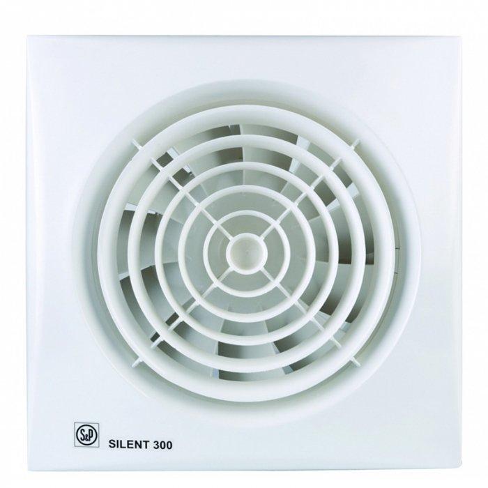 Вентилятор Soler &amp; Palau SILENT-300 CZ PLUSВытяжки для ванной<br>Модель осевого вентилятора Soler   Palau SILENT-300 CZ PLUS специально создана известнйо испанской компанией&amp;nbsp;для любых небольших помещений. Она имеет почти бесшумный двигатель, прочный корпус, надежную решетку для винта. Вентилятор выполнен в стильном белом цвете, имеет обратный клапан против выдува воздуха назад. Изделие снабжено дополнительными функциями, световой индикацией и таймером.&amp;nbsp; &amp;nbsp;&amp;nbsp; &amp;nbsp;&amp;nbsp;<br>Особенности и преимущества вентиляторов Soler   Palau представленной серии:<br><br>Разработаны специально для решения проблем вентиляции в ванных комнатах, санузлах и других небольших помещениях.<br>Электродвигатель крепится к корпусу при помощи резиновых &amp;laquo;сайлент-блоков&amp;raquo;, которые предотвращают передачу вибраций и шума от двигателя к корпусу вентилятора. Также, снижению шума способствует особая аэродинамическая форма передней решетки вентилятора.<br>Вентиляторы комплектуются шариковыми подшипниками &amp;ndash; это снижает шум, увеличивает срок службы и позволяет устанавливать вентилятор в любом положении. Срок службы вентиляторов SILENT составляет более 30000 часов.<br>Модельный ряд вентиляторов SILENT состоит из трех типоразмеров: SILENT-100, SILENT-200 и SILENT-300.<br><br>Модификации:<br><br>C &amp;mdash; Модель оснащена обратным клапаном.<br>Z &amp;mdash; Модель с шариковыми подшипниками, не требующими обслуживания (срок службы до 30000 часов).<br>R &amp;mdash; Модель оснащена регулируемым таймером, который позволяет вентиля- тору работать заданное время, после выключения.<br>H &amp;mdash; Модель оснащена гигростатом (датчиком влажности).<br>D &amp;mdash; Модель оснащена датчиком движения (радиус действия около 4 м).<br><br>Осевые вентиляторы из серии SILENT от торговой марки Soler   Palau &amp;mdash; это тихие и компактные помощники для ванной комнаты и любого другого помещения, где необходимо организовать вытяжку воздуха. Мод