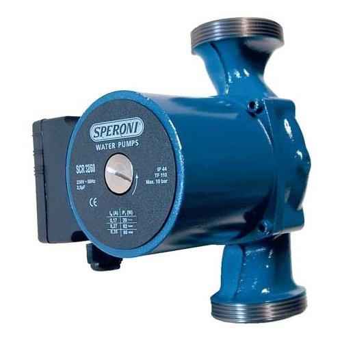 Циркуляционный насос Speroni SCR 25-40Насосы для отопления<br>Speroni (Сперони) SCR 25-40   это модель циркуляционного насоса, которая предназначена для работы в системах отопления или водоснабжения. Модель отличается высокой прочностью благодаря использованию только качественных, износоустойчивых материалов. Работа осуществляется от сети электричества, для удобства эксплуатации на корпус вынесен переключатель скорости вращения ротора по трем возможным позициям.<br>Основные преимущества рассматриваемой модели насоса от итальянского бренда Speroni:<br><br>Насос предназначен для продолжительной работы.<br>Максимальная температура окружающей среды: +40  С.<br>Высокое качество материалов изготовления.<br>Переключатель на клеммной коробке.<br>Простота в эксплуатации.<br>Класс изоляции  F . <br>Высокая пропускная способность.<br>Три скорости.<br>Ротор выполнен из пластика и норила.<br>Регулировка частоты вращения вала.<br>Минимальный уровень вибрации даже при работе на высокой скорости.<br>Долговечность эксплуатации.<br><br>Серия высокопроизводительных насосов различного назначения от популярнейшей итальянской торговой марки Speroni   это высокое качество материалов изготовления,  длительный и бесперебойный срок эксплуатации, а также доступная стоимость. Каждая модель прошла тестирование на производстве, отвечает всем требованиям и стандартам, принятым в данной области. При изготовлении продукции Speroni применяются высококлассные материалы, которые устойчивы к износу, что гарантирует длительный срок использования такого оборудования. Стоит отметить низкое потребление электричества, что сделало насосы рассматриваемого производителя энергоэффективными и выгодными для потребителя. <br><br>Страна: Италия<br>Производитель: Италия<br>Производ. л/мин: 50<br>диаметр подключ., d: 1<br>Монтажная длина, мм: 180<br>Мощность, Вт: 60<br>Напряжение сети, В: 220 В<br>Раб. давление, бар: 10<br>Режим работы: 3 скорости<br>Max темп. жидкости, С: 40<br>Класс защиты: Нет<br>Тип рабочей жидко