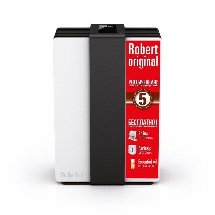 Мойка воздуха Stadler Form R-007 ROBERT ORIGINALБытовые мойки<br>StadlerForm (Стадлер Форм) R-007 ROBERTORIGINAL представляет собой модель мойки воздуха, предназначенной для обслуживания помещений с площадью до 80 м2. Несмотря на свою производительность и габариты, прибор работает в режиме минимального энергопотребления. В комплекте с мойкой прилагается датчик уровня влажности, аромомасло и дополнительный фильтр Anticalc.<br>Особенности и преимущества:<br><br>Обеспечивают качественное естественное увлажнение воздуха и его очистку от всех загрязнений размером до 0,3 микрон   тоньше человеческого волоса.<br>Stadler Form Robert   это первый увлажнитель, дисплей которого  оживает  при поднесении руки к дисплею. <br>Совершенно уникальная концепция  умной  бытовой техники, которая позволяет гармонично вписать Роберта практически в любой интерьер. <br>При эксплуатации увлажнителя можно не беспокоится за качество используемой воды. Так как увлажнитель Robert имеет фильтр с ионами серебра, который уничтожает все болезнетворные микроорганизмы   бактерии и вирусы.<br>Не требуют фильтров и расходных материалов.<br><br>Слышали ли вы о мойках воздуха Stadler Form? Это сплошные плюсы с отсутствием минусов! Мойка воздуха безопасна, она и увлажняет и очищает воздуха, не нуждается в частом обслуживании или расходных материалах, имеет компактные размеры, потребляет минимум электричества. А дизайн такого прибора, разработанного компанией Stadler Form, стилен и лаконичен, отличается современностью и органичностью.<br><br>Страна: Швейцария<br>Производитель: Китай<br>S увлажнения, м?: 80<br>S очистки, м?: 80<br>Воздухообмен мsup3;: 270<br>Колво режимов работы: 4<br>Обьем бака, л: 6,3<br>Расход воды, мл./ч: 550<br>Уровень шума, дБа: 27<br>Мощность, Вт: 30<br>Питание, В: 220 В<br>Гигростат: Да<br>Гигрометр: Нет<br>Габариты ВхШхГ, см: 47,1x32,1x23,5<br>Вес, кг: 9<br>Гарантия: 1 год<br>Ширина мм: 321<br>Высота мм: 471<br>Глубина мм: 235
