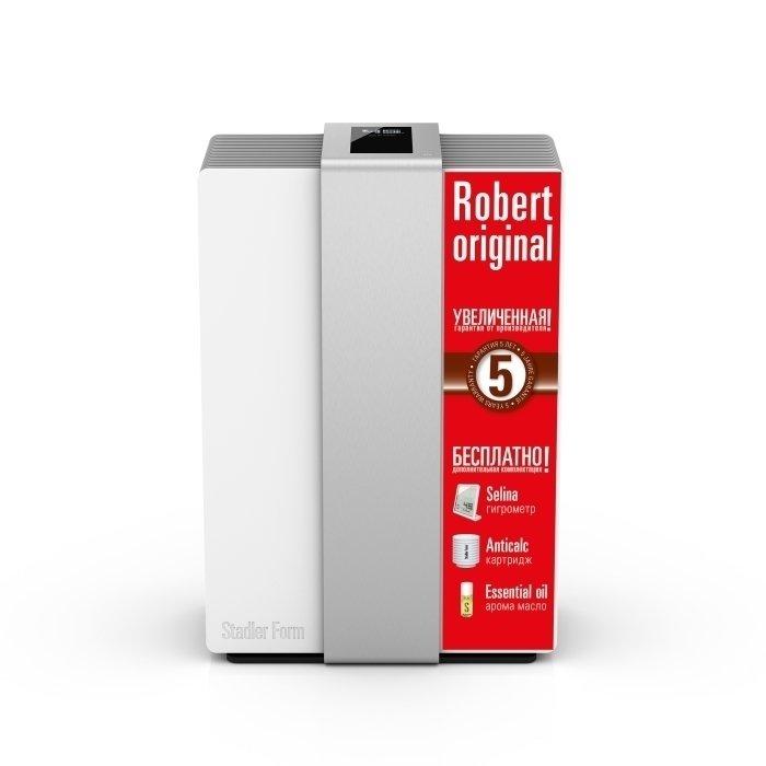 Мойка воздуха Stadler Form R-008 ROBERT ORIGINAL SILVERБытовые мойки<br>Современная модель мойки воздуха StadlerForm (Стадлер Форм) R-008 ROBERTORIGINALSILVER является незаменим приобретением для жителей мегаполиса. Преимуществом модели является вмонтированный водяной фильтр, очищающий используемую воду ионами серебра. Благодаря этому допускается возможность использовать воду любого качества, в том числе и водопроводную.<br>Особенности и преимущества:<br><br>Обеспечивают качественное естественное увлажнение воздуха и его очистку от всех загрязнений размером до 0,3 микрон   тоньше человеческого волоса.<br>Stadler Form Robert   это первый увлажнитель, дисплей которого  оживает  при поднесении руки к дисплею. <br>Совершенно уникальная концепция  умной  бытовой техники, которая позволяет гармонично вписать Роберта практически в любой интерьер. <br>При эксплуатации увлажнителя можно не беспокоится за качество используемой воды. Так как увлажнитель Robert имеет фильтр с ионами серебра, который уничтожает все болезнетворные микроорганизмы   бактерии и вирусы.<br>Не требуют фильтров и расходных материалов.<br><br>Слышали ли вы о мойках воздуха Stadler Form? Это сплошные плюсы с отсутствием минусов! Мойка воздуха безопасна, она и увлажняет и очищает воздуха, не нуждается в частом обслуживании или расходных материалах, имеет компактные размеры, потребляет минимум электричества. А дизайн такого прибора, разработанного компанией Stadler Form, стилен и лаконичен, отличается современностью и органичностью.<br><br>Страна: Швейцария<br>Производитель: Китай<br>S увлажнения, м?: 80<br>S очистки, м?: 80<br>Воздухообмен мsup3;: 270<br>Колво режимов работы: 4<br>Обьем бака, л: 6,3<br>Расход воды, мл./ч: 550<br>Уровень шума, дБа: 27<br>Мощность, Вт: 30<br>Питание, В: 220 В<br>Гигростат: Да<br>Гигрометр: Нет<br>Габариты ВхШхГ, см: 47,1x32,1x23,5<br>Вес, кг: 9<br>Гарантия: 1 год<br>Ширина мм: 321<br>Высота мм: 471<br>Глубина мм: 235
