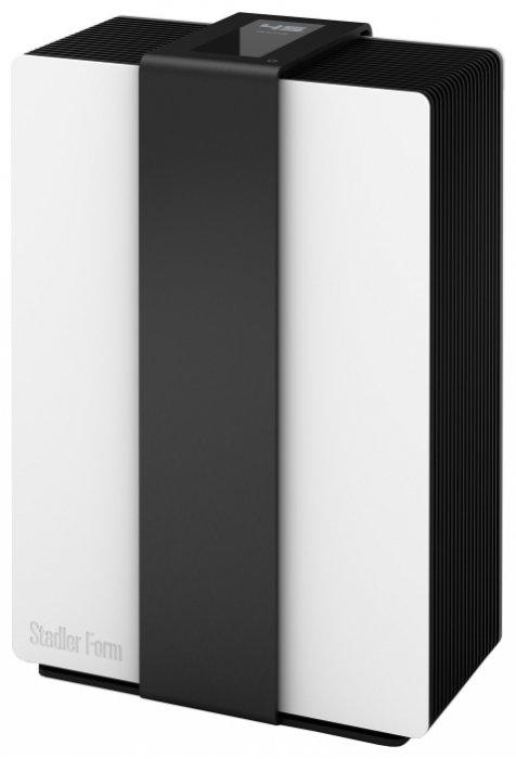 Очиститель воздуха Stadler Form Robert R-001RОчистка + Увлажнение<br>Очиститель-увлажнитель воздуха Stadler Form Robert R-001R. Новинка 2013 года. Модель сочетает в себе современный стиль и высокие технологии. Возглавила список Лучшей бытовой техники 2013 года по выбору ZOOM.CNews. <br>Данная мойка воздуха гармонично сочетает в себе фйнкции увлажнителя и очистителя воздуха. Процесс очистки происходит в то время, когда воздух проходит через систему вращающихся дисков с рельефной поверхностью. <br>Прибор имеет три режима работы: автоматический, ночной и ручной. <br>При автоматическом режиме работы влажность в помещении  поддерживается на уровне 45%. Скорость работы в этом случае определяется температурой и уровнемь влажности в помещении.<br>Ночной режим работы примечателен тем, что уровень влажности можно установить вручную, а вот скорость вращения вентилятора и уровень подстветки будут минимальны. Тем самым, работы прибора практически не слышно, что особенно важно во время отдыха. <br>Ручной режим позволяет установить уровень влажности (от 35% до 65%) и скорость вращения (от 1 до 4) на свое усмотрение.<br>Мойка Stadler Form Robert R-001R поддерживает функцию автоматического измерения влажности в помещении. Оно происходит через каждые 30 минут. Это позволяет экономить электроэнергию: достигнув заданного уровня влажности прибор отключается.<br>Функция самоочистки значительно облегчает эксплуатацию. По рекомендации производителя, каждые 4 недели необходимо заливать средство для удаления накипи в лоток. Процесс длится 20 минут.<br>Управление прибором также заслуживает особого внимания. Большой сенсорный дисплей 5,32 дюйма с датчиком движения покажет всю необходимую информацию. При работе прибора на экране отображается лишь уровень влажности в помещении. Но стоит провести рукой возле дисплея, как на нем появится меню с возможностью установки уровня влажности, скорости вращения вентилятора и выбор режима работы.<br> <br>Отличительные особенности Stadler Form Robert R-001R: