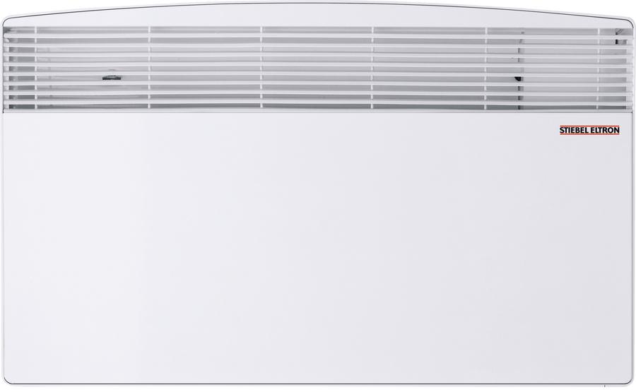 Конвектор электрический Stiebel Eltron CNS 100 S10 м? - 1.0 кВт<br> <br>Обогреватель CNS 100 S вырабатывает 1000 Вт полезной тепловой мощности. Прибор изготавливается из высококачественных материалов, что непосредственно влияет на надежность и срок службы конвектора. Обогрев помещения осуществляется посредством встроенного трубчатого электрического нагревателя.<br>Особенности:<br><br>нагревательный элемент - ТЭН из нержавеющей стали с алюминиевым теплообменником;<br>механический термостат с точностью 1 С;<br>встроенная защита от перегрева;<br>режим Антизамерзания;<br>II класс электрозащиты, не требуется заземления;<br>устойчивость к перепадам напряжения от 150 до 242 В.<br><br> <br>Электрический конвектор CNS 100 S используется в качестве основного или дополнительного обогревателя в период межсезонья в жилых и коммерческих помещениях. Приборы Stiebel Eltron наиболее востребованы в загородных домах, городских квартирах, магазинах, кафе и пр.<br>По типу установки конвектор является настенным, отличается элементарностью монтажа, который не требует специфических инструментов и навыков. За счет компактных габаритных размеров прибор может использоваться в помещениях небольшой площади и устанавливаться в ограниченных пространствах, например, под подоконником.<br>Принцип работы обогревателя основан на процессе естественной конвекции, при которой холодный воздух из нижних слоев пропускается через трубчатый электрический нагреватель, нагревается и устремляется вверх через решетку. ТЭН изготовлен из нержавеющей стали и отличается надежностью и долговечностью, так как материал исключает возможность возникновения коррозии. Надежность достигается за счет высококачественных материалов и высокоточной технологии сборки прибора. Таким образом, прибор является долговечным и надежным обогревателем, который не требует финансовых затрат на обслуживание и весьма экономичен в энергопотреблении.<br><br>Превосходный внешний вид и оригинальный дизайн подойдут к любому типу интерьера, так что 