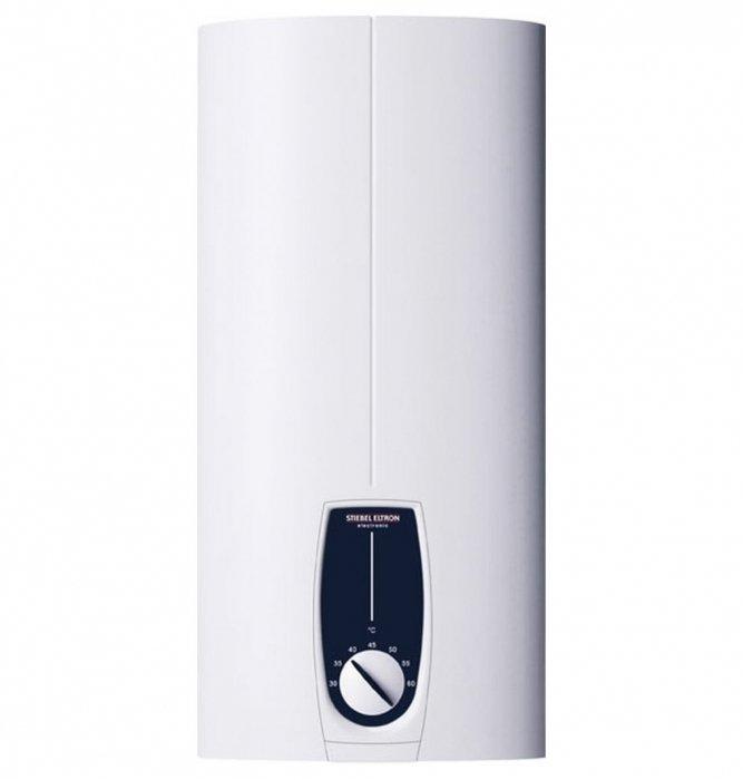 Водонагреватель Stiebel Eltron DHB-E 11 SLi12 кВт<br><br>Электрический проточный водонагреватель Stiebel Eltron DHB-E 11 SLi с гидравлическим управлением идеально подходит для использования в домах с жесткой водой. Представленная модель оснащена панелью регулирования температуры от30 °Cдо60 °C, может самостоятельно анализировать зависимость температуры воды и протока, отличается надежностью и долговечностью, компактными размерами и герметичностью.<br><br>Основные характеристики представленной модели:<br><br>проточный водонагреватель закрытого типа (напорный) способен обеспечить одну или более точек водозабора, с электронным управлением;<br>спиральный нагревательный элемент позволяет использовать прибор в условиях «жесткой» воды (воды с высоким содержанием извести);<br>температура регулируется в диапазоне от 30 до 60°С с помощью температурного регулятора, расположенного на лицевой панели;<br>в приборе предусмотрена электронная система компенсации температурных колебаний;<br>устройство оборудовано автоматическим регулятором мощности;<br>благодаря встроенной системе аварийного отключения, с высокой скоростью реакции, прибор надежно защищен от воздушных пробок;<br>полностью исключен риск поражения пользователя электричеством, благодаря защите от поражения электричеством;<br>устройство надежно защищено от давления;<br>корпусу прибора присвоен класс защиты IP 25 обеспечивающий защиту от струй воды;<br>предохранительный ограничитель температуры;<br>прибор можно установить в том же помещении, где он будет эксплуатироваться;<br>благодаря своей универсальной конструкции, прибор обладает гибкой системой монтажа, и может быть монтирован как над раковиной, так и под ней;<br>минимальное давление, при котором прибор работает, 1 бар (атмосфер), максимальное 10 бар (атмосфер);<br>технология profi-rapid для проточных водонагревателей;<br>переворачивающаяся лицевая панель.<br><br><br>Stiebel Eltron – это группа компаний, которая на сегодняшний день является одним из лидеров в индустри