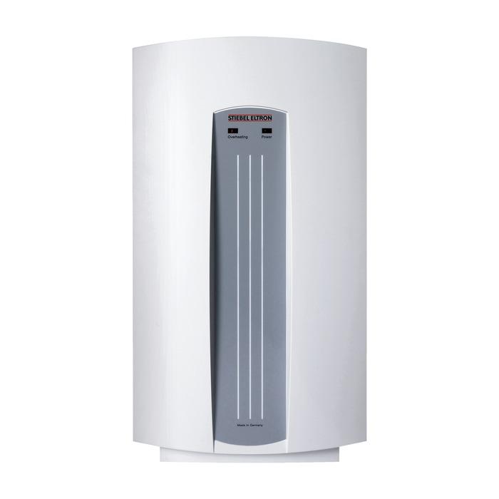 Электрический проточный водонагреватель 6 кВт Stiebel Eltron DHC 68 кВт<br>При покупке действует акция!<br>- Всем покупателям в подарок очиститель воздухаAirComfort XJ-205<br>- Гарантия 5 лет<br>Электрический проточный водонагреватель Stiebel Eltron DHC 6 является универсальным в эксплуатации и в монтаже. Достаточно компактные габариты прибора дают возможность установить его в любых помещениях с любыми конструктивными решениями. При необходимости раздачу воды можно развести на несколько точек. Нагрев воды происходит моментально, без каких-либо задержек. Представленная модель предельно экономична: основной расход электроэнергии приходится на время включения крана, но по сравнению с аналогами и он крайне  незначителен.<br> <br>Основные характеристики представленной модели:<br><br>Водонагреватель закрытого типа (напорный);<br>Гидравлическое управление;<br>Одна или нескольких водоразборных точек<br>Элементы прибора, контактирующие с водой, выполнены из меди;<br>Индикаторы питания и перегрева<br>Температура воды на выходе регулируется протоком с помощью смесителя;<br>Работает даже при низком напоре;<br>Быстрый и простой монтаж;<br>Нагревательный элемент   медный ТЭН. Элементы, контактирующие с водой, выполнены из меди.<br>На лицевой панели размещены индикаторы питания и перегрева.<br>В комплект входят переходники для монтажа подводящей магистрали открытой и закрытой подводки.<br>Класс защиты   IP24 (защита от брызг воды).<br>Возможна установка рядом с местом эксплуатации.<br>Встроена двойная защита от перегрева.<br>Максимальное давление   10 бар.<br>Диаметр подключения магистрали холодной и горячей воды   G ?  (наружная резьба).<br><br> <br>Stiebel Eltron   это группа компаний, которая на сегодняшний день является одним из лидеров в индустрии климата и горячего водоснабжения. Для производства своей продукции компания используется инновационный подход, но оставаясь верными своим традициям. Stiebel Eltron постоянно совершенствует свою продукцию, учитывая пожелания пользова