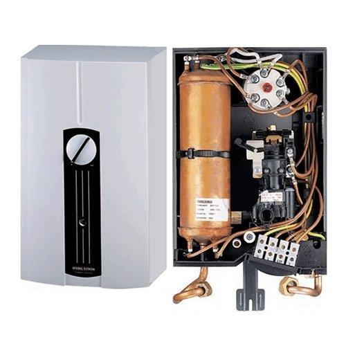 Водонагреватель Stiebel Eltron DHF 12 C112 кВт<br>Электрический напорный водонагреватель закрытого типа Stiebel Eltron DHF 12 C1 удачно сочетает компактные размеры с высокой производительностью, что обуславливает его широкое применение в квартирах и коттеджах. Представленная модель оснащена медным нагревательным элементом, имеет прекрасную защиту и отличается экономичностью в расходе электрической энергии.<br> <br>Основные характеристики представленной модели:<br><br>проточный водонагреватель напорного (закрытого) типа может обеспечивать нагретой водой один или более водоразборных узлов;<br>управляется напором воды (гидравлическое управление). На выходе из аппарата температура регулируется напором при помощи смесителя;<br>все детали прибора, взаимодействующие с водой, нагревательный элемент (ТЭН) и колба сделаны из меди;<br>водонагреватель имеет 2 режима мощности (полная и половинная). Переключение происходит с помощью переключателя на передней панели;<br>водонагреватель не боится низкого давления;<br>предохранительный температурный ограничитель;<br>максимальное рабочее давление 10 бар (атмосфер), минимальное   1 бар (атмосфер);<br>класс защиты корпуса IP 24;<br>водонагреватель можно устанавливать рядом с местом пользования   в кухне или душе;<br>диаметр подключения магистрали холодной и горячей воды   1/2  (наружная резьба).<br><br> <br>Stiebel Eltron   это группа компаний, которая на сегодняшний день является одним из лидеров в индустрии климата и горячего водоснабжения. Для производства своей продукции компания используется инновационный подход, но оставаясь верными своим традициям. Stiebel Eltron постоянно совершенствует свою продукцию, учитывая пожелания пользователь, благодаря чему семейство водонагревателей Stiebel Eltron DHF отличается качеством, безопасностью и комфортом.<br><br>Страна: Германия<br>Производитель: Германия<br>Темп. нагрева, С: +60<br>Способ нагрева: электрический<br>Производительность: 6,1<br>Мощность, кВт: 12<br>Защита от перегрева: есть<br