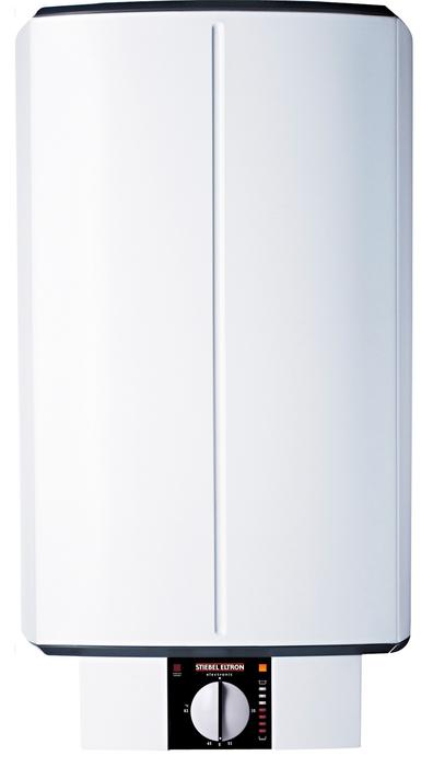 Электрический накопительный водонагреватель Stiebel Eltron SH 50 S50 литров<br> <br>Напорный накопительный электрический водонагреватель Stiebel Eltron SH 50 S в вертикальном исполнении может без труда обеспечить водой сразу несколько водоразборных точек. Рассматриваемая модель водонагревательного оборудования имеет ряд достоинств: это высокое качество сборки, экономичность вкупе с производительностью, поддержка заданной температуры и долговечность. Прибор предназначен для размещения на стене.<br>Основные характеристики представленной модели:<br><br>для изготовления внутреннего накопительного бака используется двухмиллиметровая сталь со слоем специальной эмали anticor;<br>оснащен сменным антикоррозийным анодом, который обеспечивает надежную защиту бака от коррозии;<br>предусмотрена возможность смены антикоррозийного анода без необходимости снимать нагревательный фланец с ТЭНами;<br>оснащен полиуретановой теплоизоляцией, экологически безопасной и высокоэффективной;<br>предусмотрена возможность ограничивать максимальную температуру нагрева воды - 35/55/60/65 С;<br>оснащен предохранительным ограничителем температуры;<br>удобный слив воды обеспечивается при помощи сливного вентиля (заглушки);<br>класс защиты IP 25 обеспечивает надежную защиту корпуса от струй воды;<br>может функционировать при максимальном давлении 6 бар (атмосфер);<br>при производстве водонагревателей накопительного типа Stiebel Eltron используется технология profi-rapid;<br>диаметр наружной резьбы при подключении магистрали горячей и холодной воды составляет - G 1/2;<br>прибор имеет компактные размеры и элегантный дизайн.<br><br>SH S   это современные водонагревательные приборы от немецкого бренда Stiebel Eltron. Среди их бесчисленных достоинств   удобный бесступенчатый регулятор мощности прибора, который позволит задать нужный температурный режим с удивительной точностью. Известный немецкий бренд Stiebel Eltron производит исключительно высококачественные водонагревательные приборы, что достигается бл