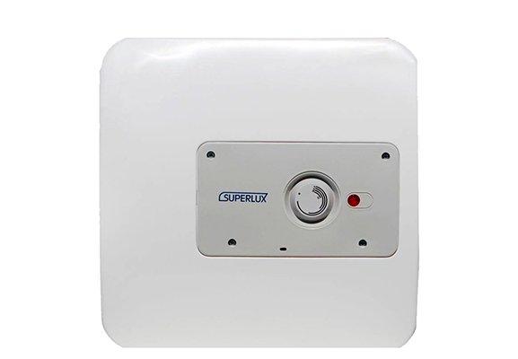 Электрический накопительный водонагреватель Superlux 15U PL15 литров<br>Для накопительного водонагревателя Superlux (Суперлюкс)  15U PL предусмотрена лампочка индикации, предназначение которой заключается в информировании пользователя о нынешнем состоянии устройства. С помощью специальной панели на внешней части корпуса можно регулировать показатель температуры воды на свое усмотрение.   Бак защищает увеличенный магниевый анод.<br>Особенности и преимущества накопительных водонагревателей Superlux серии NTS PL:<br><br>внутренний бак с покрытием мелкодисперсной эмалью;<br>установка над или под раковиной;<br>высокое качество сборки;<br>надежная система защиты;<br>увеличенный магниевый анод;<br>регулировка температуры;<br>простое управление;<br>лампочка индикации работы;<br>автоклавный фланец;<br>лаконичный дизайн;<br>компактные габариты;<br>вертикальная настенная установка;<br>увеличенная теплоизоляция из полиуретана; <br>электрический кабель в комплекте; <br>многофункциональный предохранительный клапан в комплекте; <br>рабочее давление 0,2-8 бар; <br>класс защиты корпуса IP25.<br><br>Электрические накопительные водонагреватели с итальянским дизайном из серии NTS от бренда Superlux соответствуют всем требованиям безопасности и представляют собой надежные и высокоэффективные устройства для качественного нагрева воды. Для защиты внутреннего бака водонагревателей используется специальный магниевый анод, предотвращающий возникновение коррозии и накипи. Накопительные водонагреватели Superlux в интернет-магазине mircli.ru вы найдете в широком ассортименте по демократичной цене.<br><br>Страна: Италия<br>Производитель: Россия<br>Способ нагрева: Электрический<br>Нагревательный элемент: Трубчатый<br>Объем, л: 15<br>Темп. нагрева, С: 75<br>Мощность, кВт: 1,2<br>Напряжение сети, В: 220 В<br>Плоский бак: Нет<br>Узкий бак Slim: Нет<br>Магниевый анод: Да<br>Колво ТЭНов: 1<br>Дисплей: Нет<br>Сухой ТЭН: Нет<br>Защита от перегрева: Есть<br>Покрытие бака: Эмаль<br>Тип установки: Вертикал
