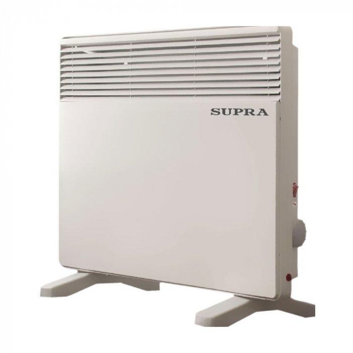 Конвектор электрический Supra ECS-62020 м? - 2.0 кВт<br>Supra (Супра) ECS-620   это качественный электрический конвектор, отличающийся простотой в использовании, а также имеющий регулируемый термостат. Прибор изготовлен из высококачественных материалов, что позволяет ему долго функционировать. Данный конвектор имеет небольшие габариты и маленький вес, что делает его эксплуатацию ещё более простой. Есть светодиодный индикатор.<br>Преимущества и особенности Supra ECS:<br><br>Механическое управление<br>Светодиодный индикатор<br>Защита от перегрева<br>Отключение при падении<br>Небольшой вес<br>Маленькие габариты<br>Регулируемый термостат<br><br>Серия электрических конвекторов ECS от украинского производителя Supra отличается своей надёжностью и привлекательным дизайном. Серия данных конвекторов имеют настенную установку, однако они также могут крепится и на пол. Приборы имеют маленький вес и относительно небольшие габариты, что значительно упрощает эксплуатацию устройства. <br><br>Страна: None<br>Производитель: Украина<br>Mощность, Вт: 1000/1000<br>Площадь, м?: 20<br>Класс защиты: Нет<br>Настенный монтаж: Да<br>Термостат: Механический<br>Тип установки: Стена/пол<br>Длина конвектора: None<br>Высота конвектора: None<br>Отключение при перегреве: Есть<br>Отключение при опрокидывании: Нет<br>Влагозащитный корпус IP44: Нет<br>Ионизатор: Нет<br>Дисплей: Нет<br>Питание В/Гц: 220/50<br>Размеры ВхШхГ: 470х100х715<br>Вес, кг: 5<br>Гарантия: 1 год