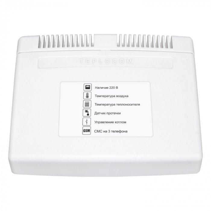 Теплоинформатор  Teplocom GSMАксессуары<br>Модель TEPLOCOM  GSM   это умный теплоинформатор позволяющий удаленно следить за состоянием отопительного котла в процессе его эксплуатации. Устройство работает на системе Android и не требует сложной настройки. Предусмотрительно установлен аккумулятор, позволяющий информатору автономно работать в течение двух суток.<br>Особенности и преимущества:<br><br>Теплоинформатор TEPLOCOM GSM позволяет удаленно осуществлять контроль за домашней котельной во время вашего отсутствия.<br>С помощью Теплоком GSM можно заранее прогреть ваш загородный дом или дачу, если не проживаете в нем постоянно.<br>Теплоинформатор позволит не допустить промерзание труб в холодное время года, установив минимальный режим отопления.<br>Теплоинформатор TEPLOCOM GSM существенно снижает расход топлива за счет дистанционного управления режимами работы котлов отопления.<br>TEPLOCOM GSM позволит получать полезную информацию о работе вашей системы отопления и осуществлять диагностику работы оборудования.<br><br><br>Страна: Россия<br>Производитель: Россия<br>Дисплей: Нет<br>Вес, кг: 1<br>Гарантия: 5 лет