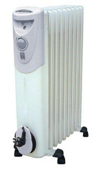 Масляный радиатор Termica Standart 1125Масляные радиаторы<br>Standart 1125 представляет собой масляный радиатор. Standart1125 не сжигает кислород, так как имеет не совсем высокую температуру нагрева корпуса. <br>Масляный радиатор Standart1125 абсолютно безопасен даже при круглосуточной работе. В конструкции имеется предохранитель, обеспечивающий защиту от перегрева. <br>Маленькие колесики позволяют с легкостью перемещать Standart1125 из одного помещения в другое. <br>Имеет функцию защиты от охлаждения. Возможно поддержание постоянной температуры, осуществляющееся посредством комбинации прямого нагревания и конвенции. <br>Кнопка включения и выключения снабжена индикатором света. Три ступени мощности позволяют выбрать нужную температуру нагрева. Термостат снабжен плавной регулировкой.<br>В конструкции имеется устройство для намотки кабеля. <br><br>Страна: Германия<br>Мощность, Вт: 2500<br>Площадь, м?: 30<br>Колво секций: 11<br>Напряжение, В: 220<br>Вес, кг: 14,3<br>Гарантия: 1 год