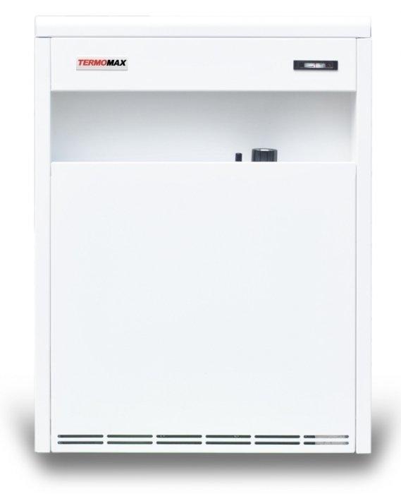 Настенный газовый котел TermoMax12 кВт<br> С универсальным газовым котлом TERMOMAX-С 12Е пользователь может рассчитывать на свежий и здоровый воздух в обслуживаемом помещении, что обусловлено использованием закрытой камеры сгорания в этой модели.<br>Прибор может быть установлен на пол, а может быть установлен настенным монтажом. Патрубки коммуникаций могут быть подведены к нему и слева, и справа. Благодаря этому открываются широкие возможности в выборе места для монтажа оборудования.<br>Особенности прибора:<br><br>Не требует специально отведенного дымохода<br>Закрытая камера сгорания<br>Низкое потребление топлива<br>Не требует подключения к электросети<br>Естественная циркуляция теплоносителя<br>Не сжигает кислород из атмосферы помещения<br>Автоматика производства итальянского концерна SIT<br>Горелка POLIDORO<br>Теплообменник изготовлен из высококачественной стали<br>Толщина стенок бака теплообменника составляет 2 мм<br>Универсальное (лево- и правостороннее) подключение к отопительной системе<br>Универсальная установка   настенный или напольный монтаж<br>Высокая степень безопасности и надежности<br>Срок службы котла   не менее 14 лет<br>Простота в управлении<br>Компактные размеры<br>Аккуратный, лаконичный дизайн<br><br>Серия газовых отопительных котлов TermoMax C-E предназначена для обеспечения функционирования систем отопления в жилых, торговых или иных помещениях. Оборудование отличается высокой надежностью и безопасностью, что обусловлено высоким качеством материалов и рабочих узлов, из которых изготовлено оборудование.<br>Закрытая камера горения предотвращает забор воздуха для сжигания газа из атмосферы помещения, сохраняя содержание кислорода независимым от работы котла.<br>Естественная циркуляция теплоносителя по отопительной системе позволяет использовать прибор независимо от работы электросети. Это может служить гарантом стабильности работы оборудования, что особенно важно для районов, где случаются перебои с электроснабжением.<br>Универсальная установка при